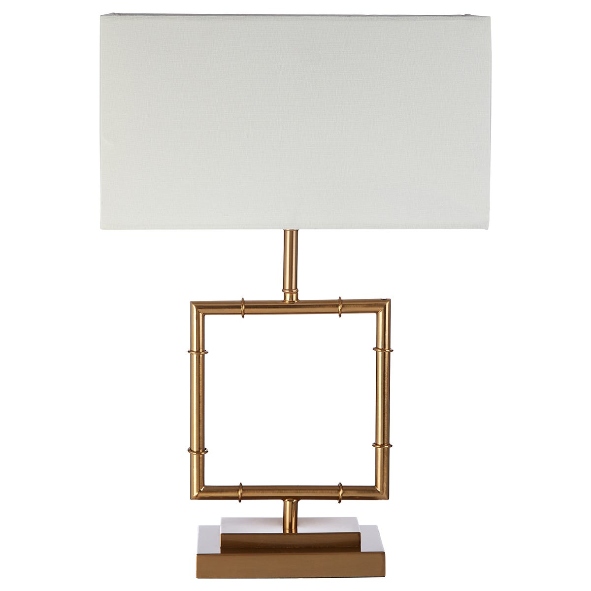 Premier Housewares Zofie Table Lamp in Gold Finish with White Linen Shade