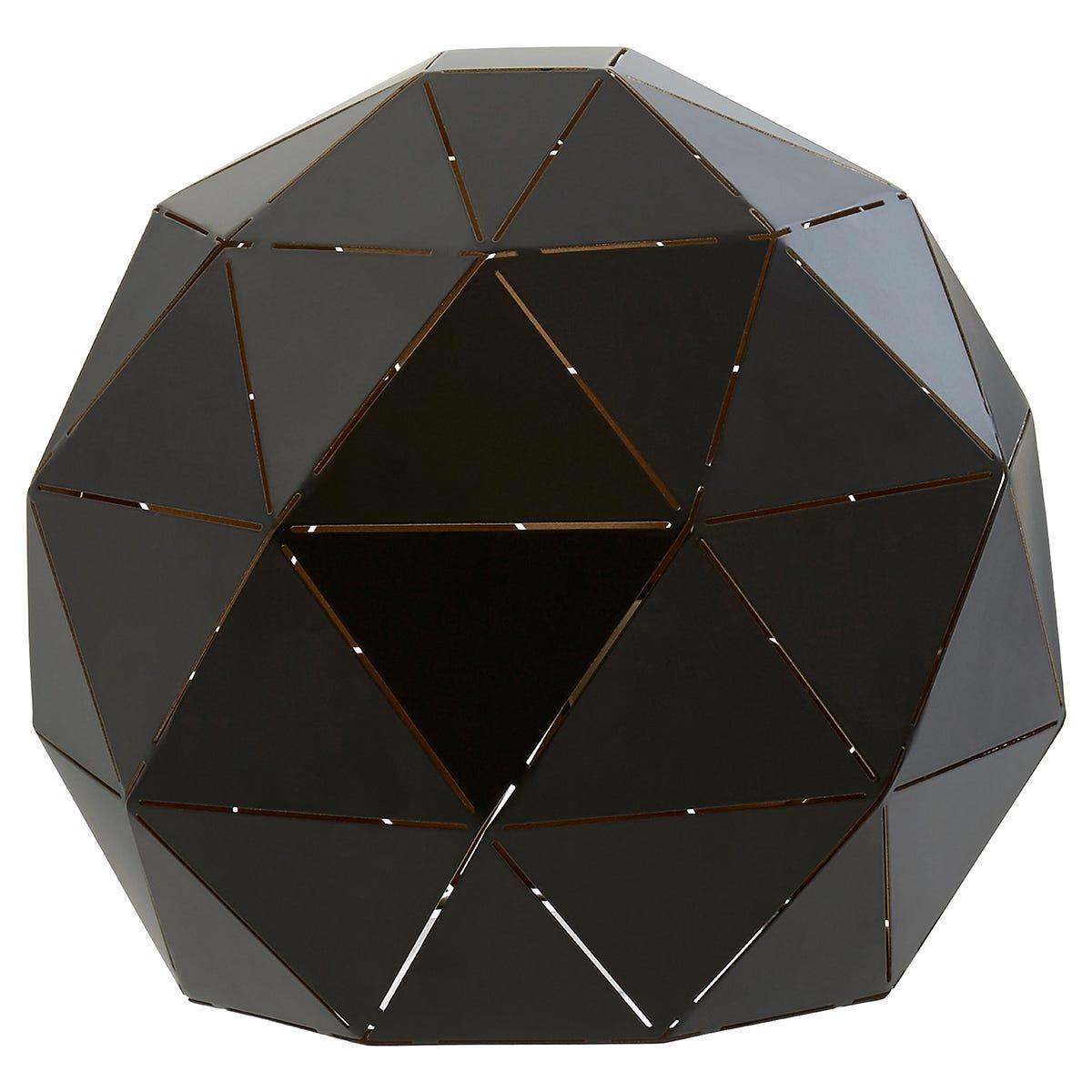 Premier Housewares Mateo Geometric Table Lamp - Black Finish