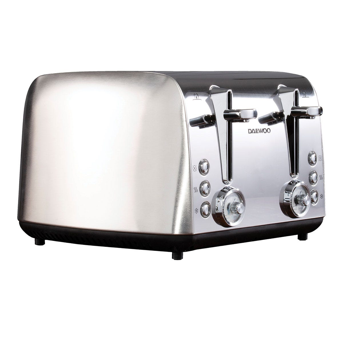 Daewoo SDA1749 Kingsbury 2100W 4-Slice Dial Toaster - Stainless Steel