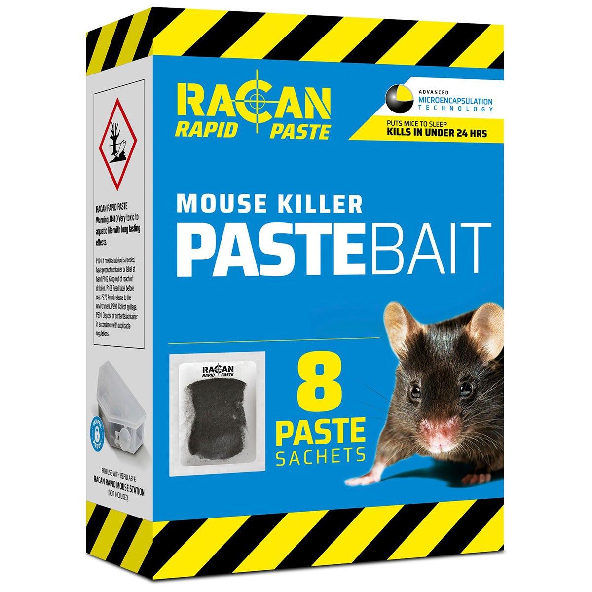 Racan Rapid Paste Bait Mouse Killer Sachets - 8 x 10g
