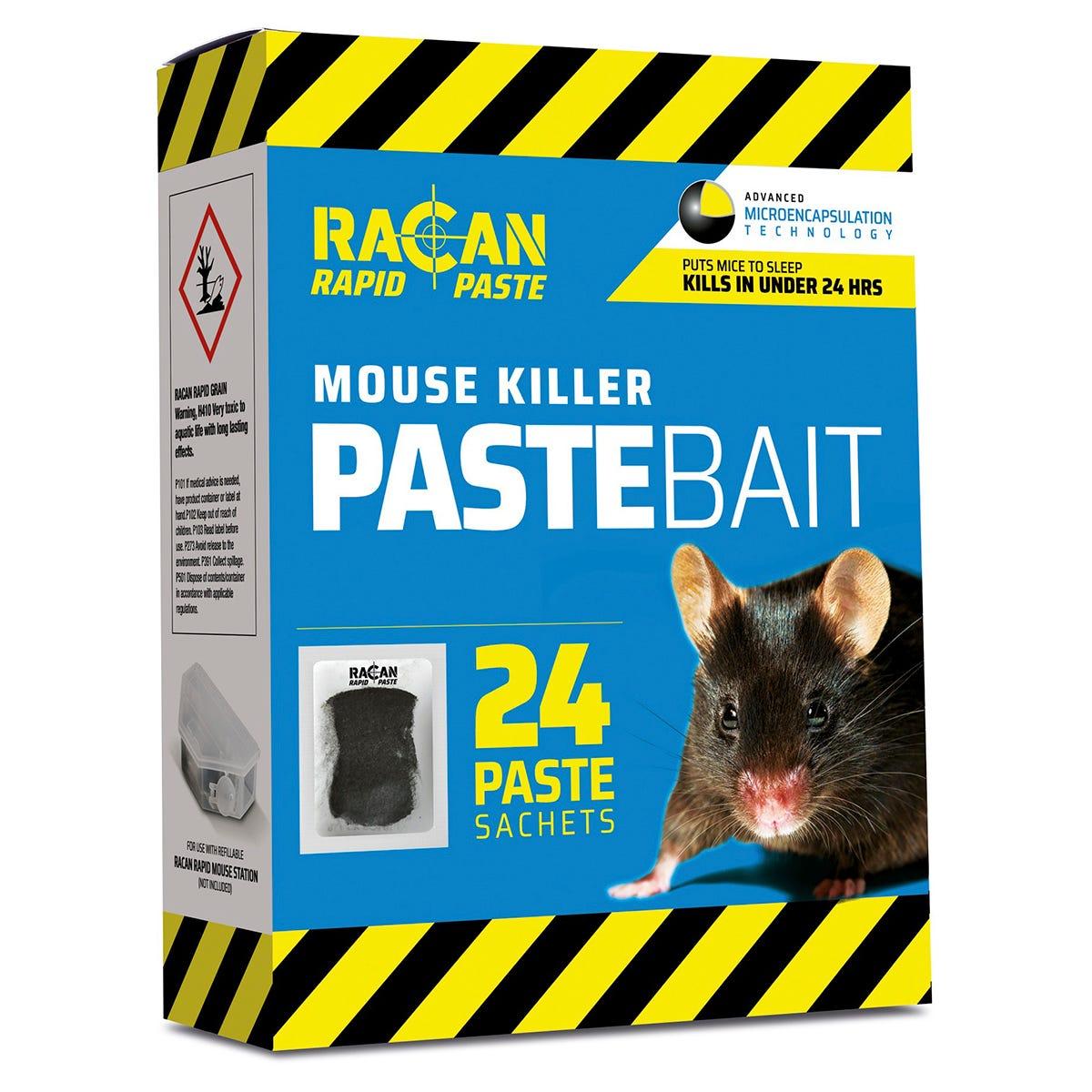 Racan Rapid Paste Bait Mouse Killer Sachets - 24 x 10g