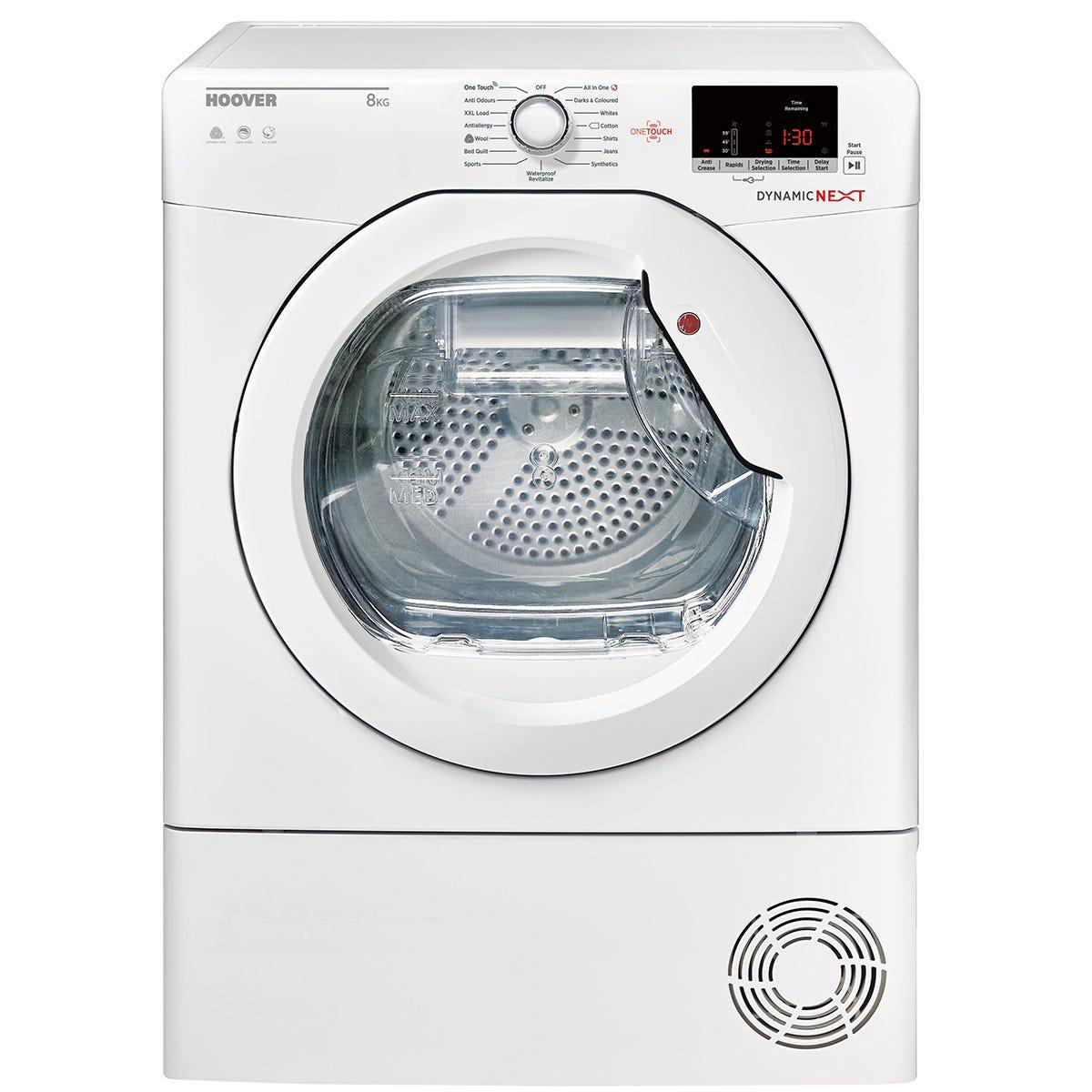 Hoover DXC8DE 8kg Aquavision Condenser Tumble Dryer - White