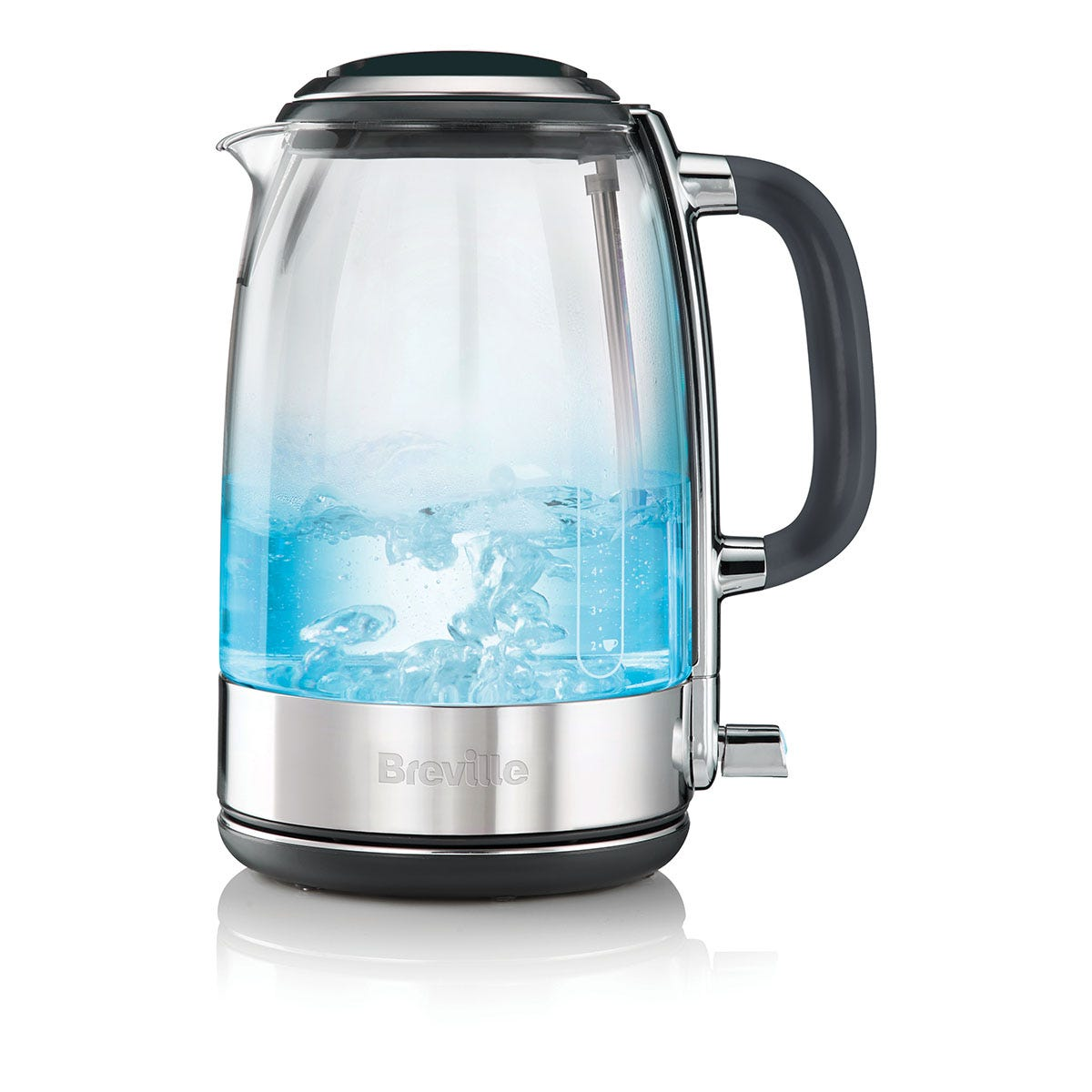 Breville VKT071 Crystal Clear Glass Jug Kettle - Clear & Stainless Steel