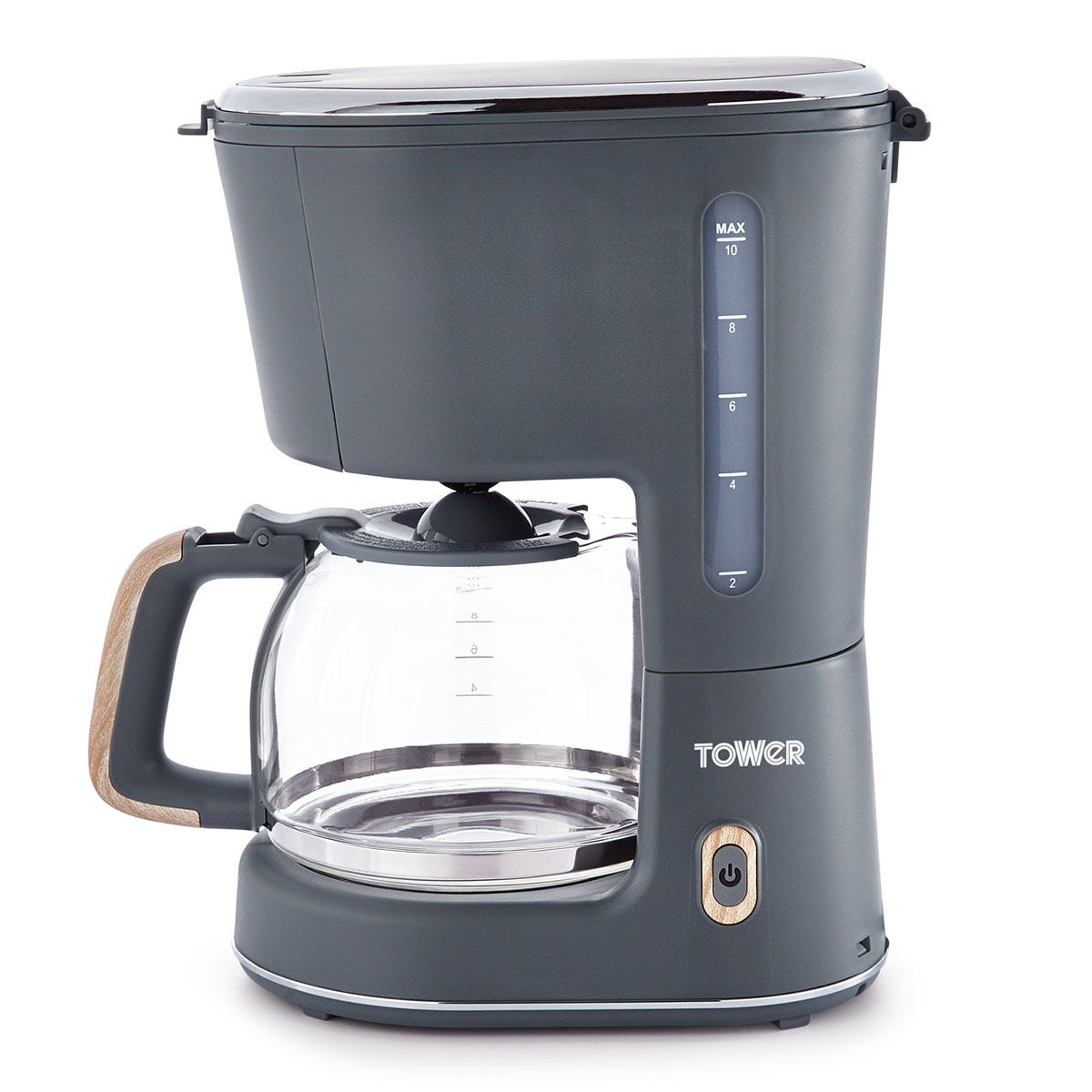 Tower T13006G 900W Scandi Filter Coffee Machine - Grey