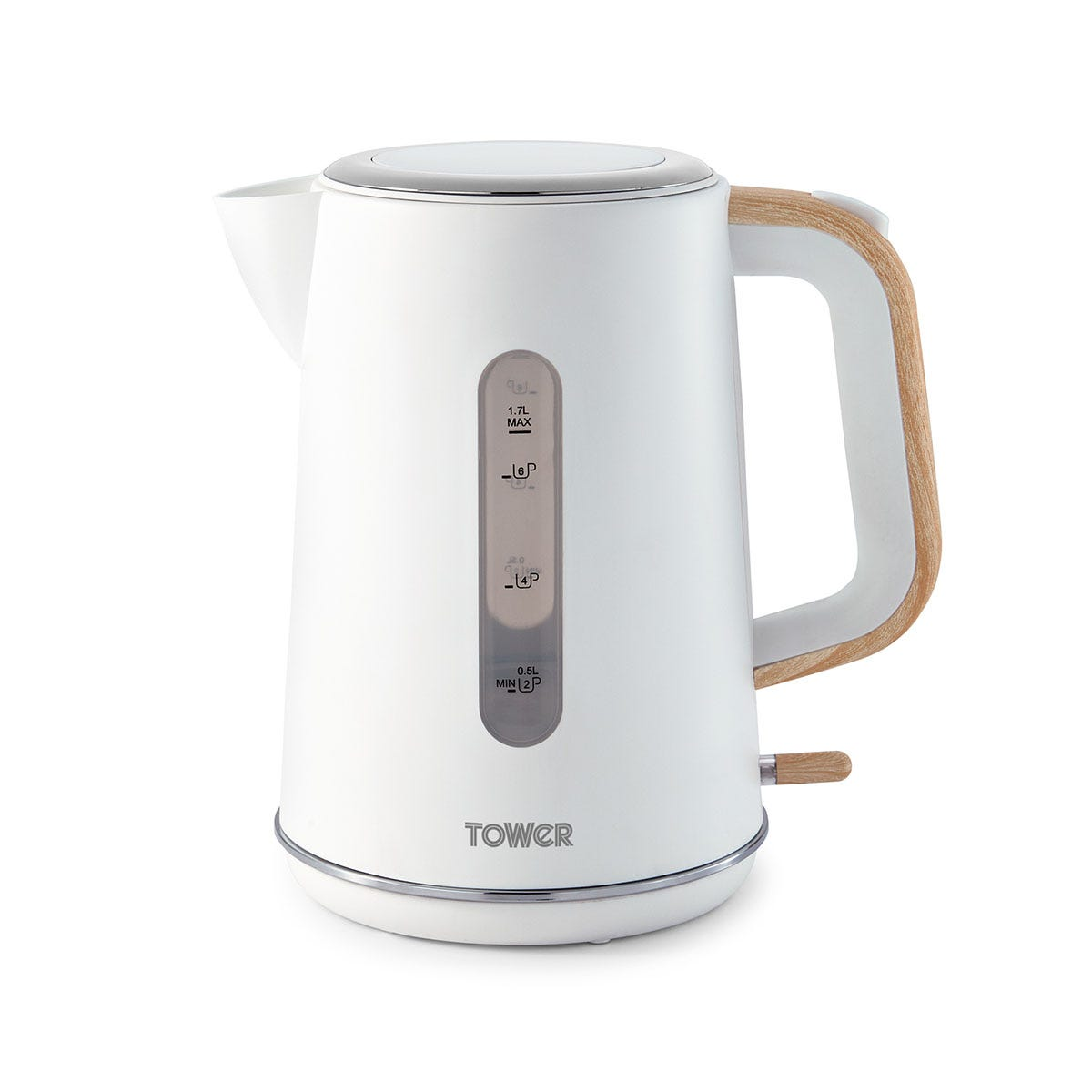 Tower T10037 Scandi 3kW Rapid Boil and Boil Dry Potected 1.7L Kettle - White
