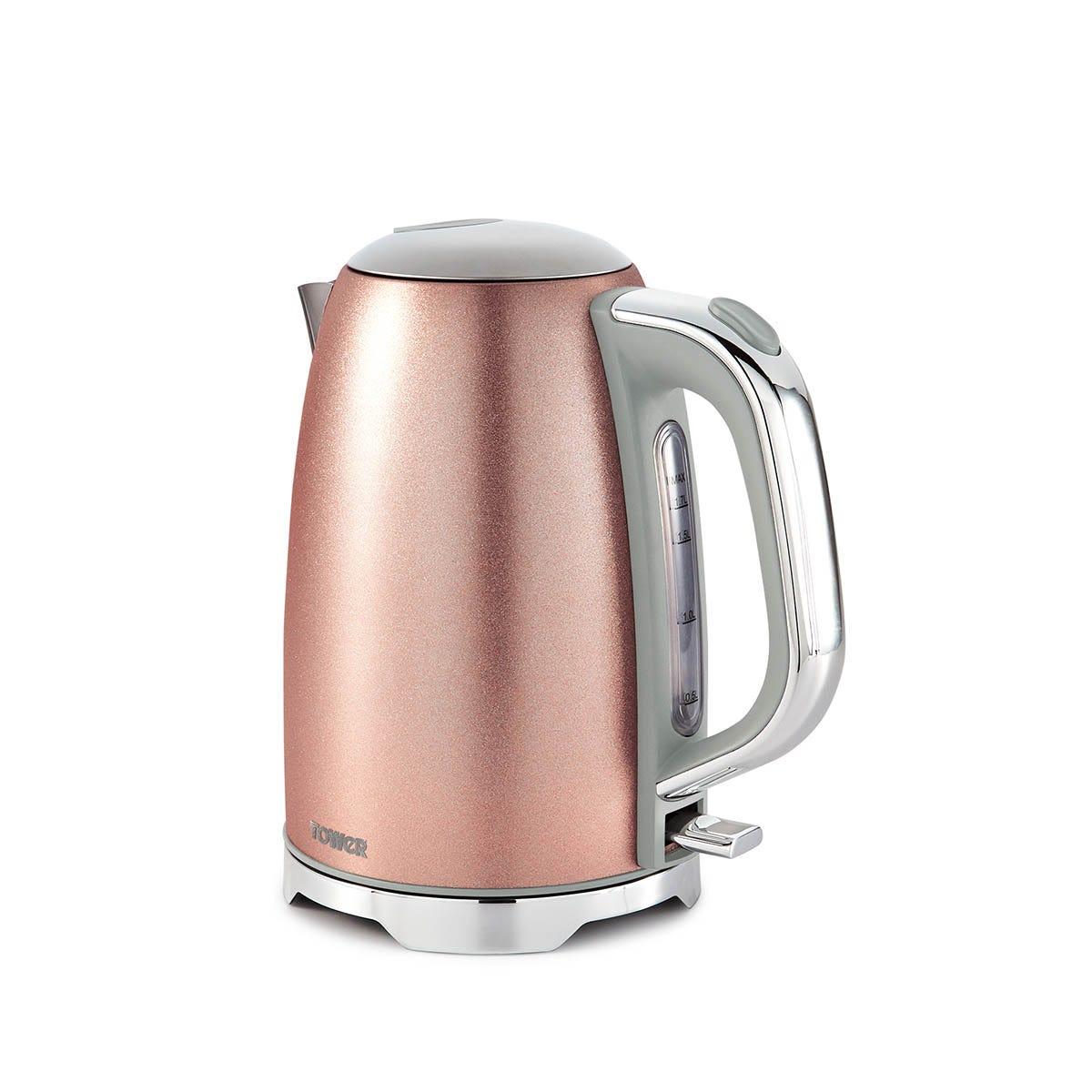 Tower T10039BP Glitz 3000W 1.7L Cordless Jug Kettle - Blush Pink