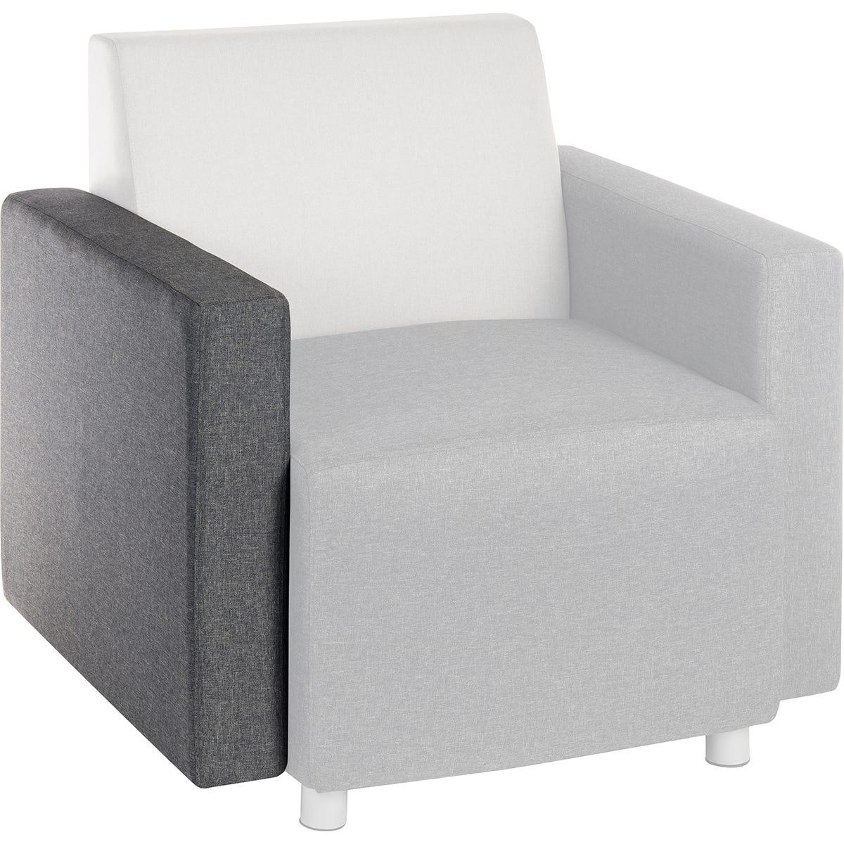 Teknik Cube Modular Reception Sofa - Dark Grey Interchangeable Chair Arm
