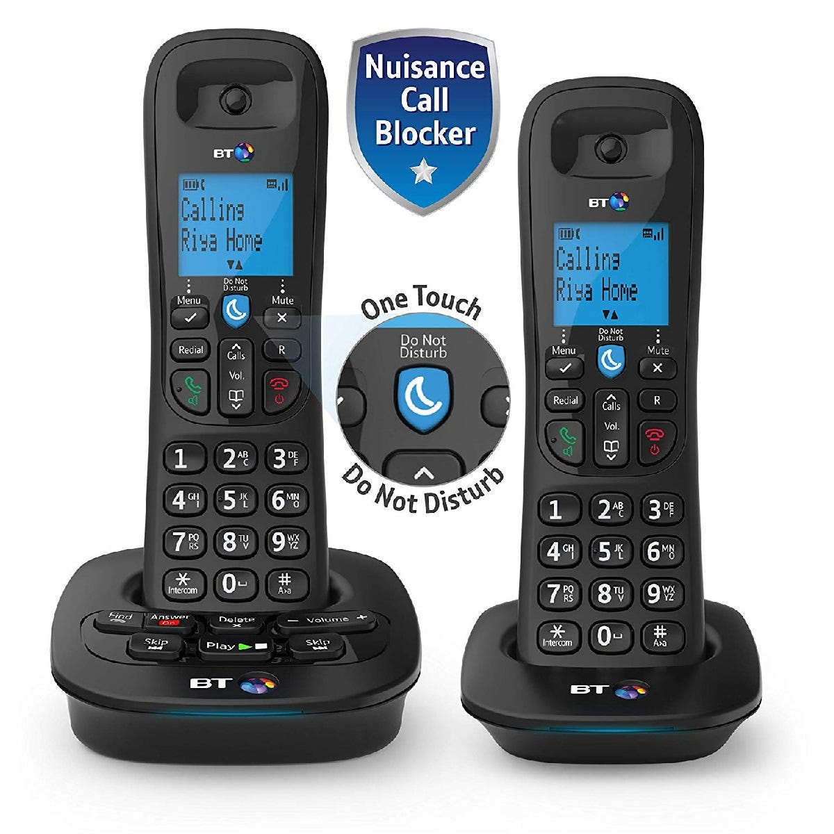 BT 3950 Twin Home Phone with Nuisance Call Blocking and Answer Machine - Black