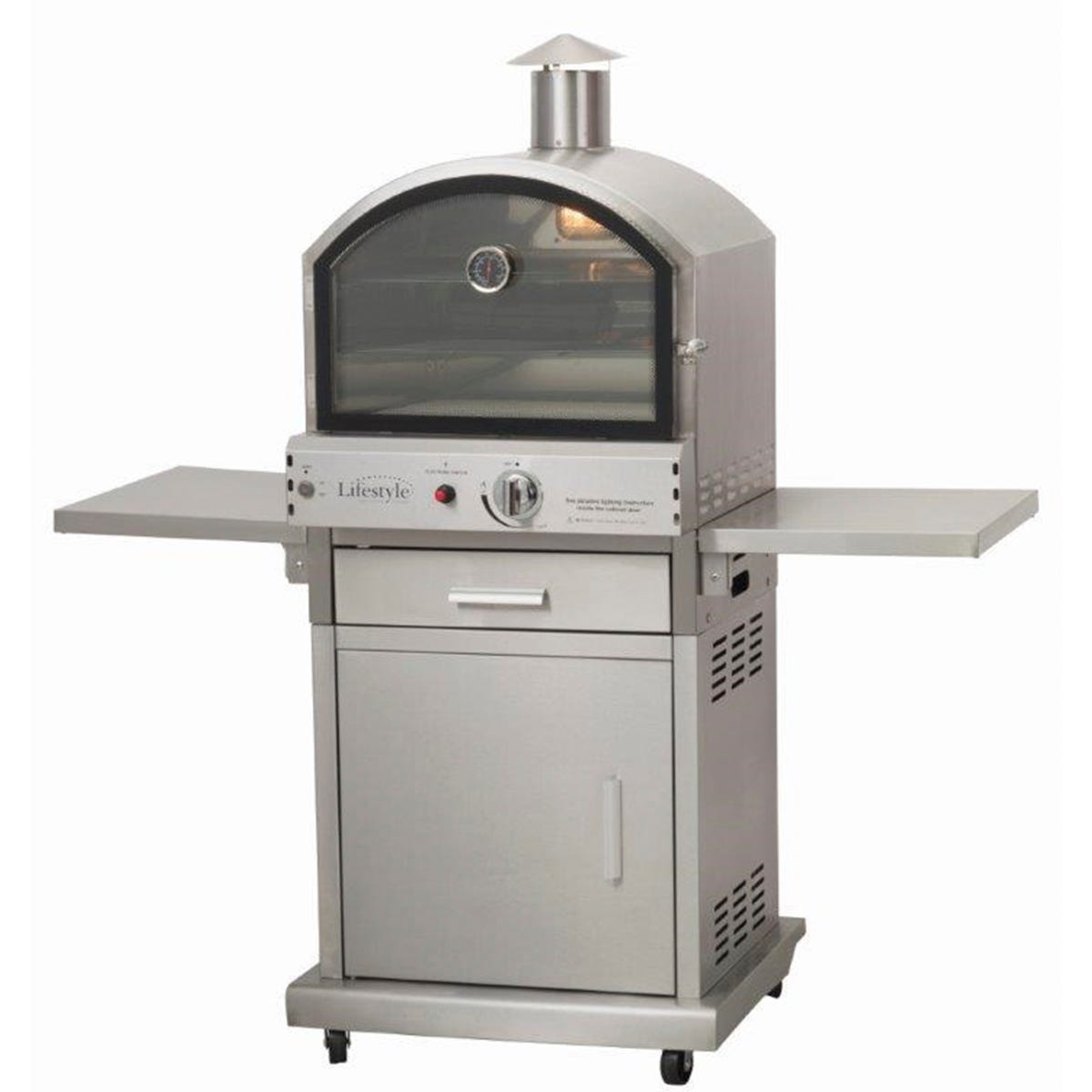 Lifestyle Appliances Milano Deluxe Stainless Steel Gas Garden Pizza Oven