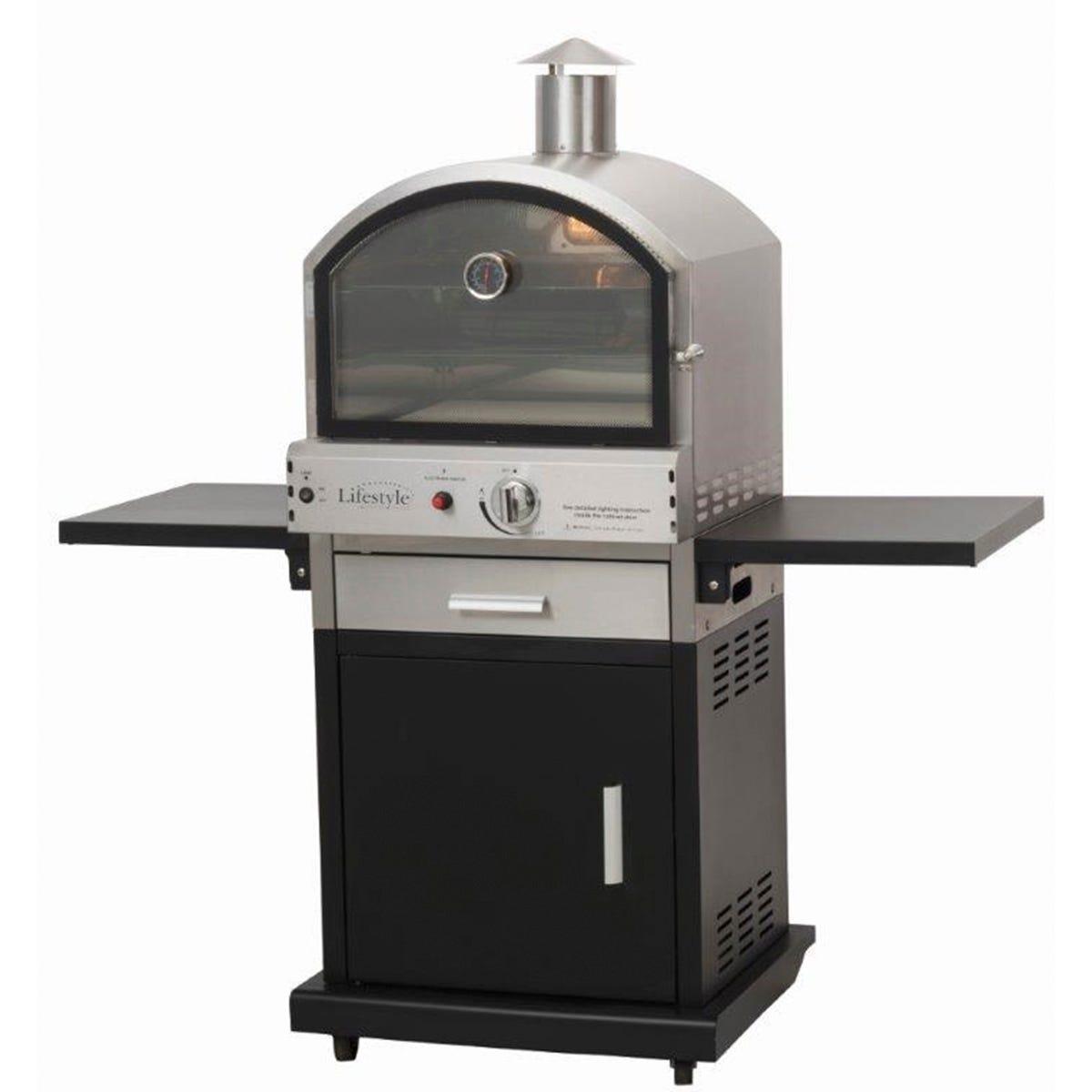 Lifestyle Appliances Verona Deluxe Gas Garden Pizza Oven - Black