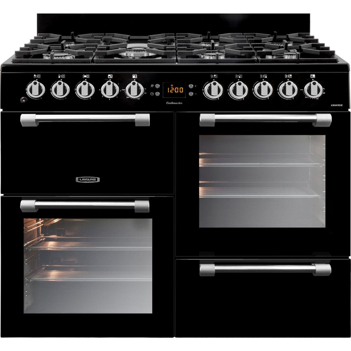Leisure CK100F232K 100cm Cookmaster Dual Fuel Range Cooker - Black