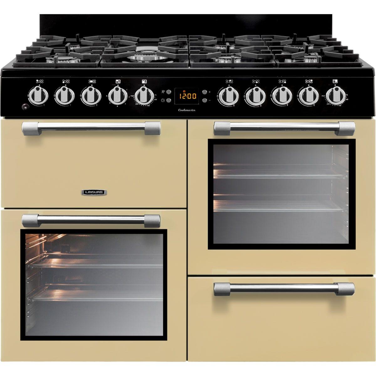 Leisure CK100G232C 100cm Cookmaster Gas Range Cooker - Cream