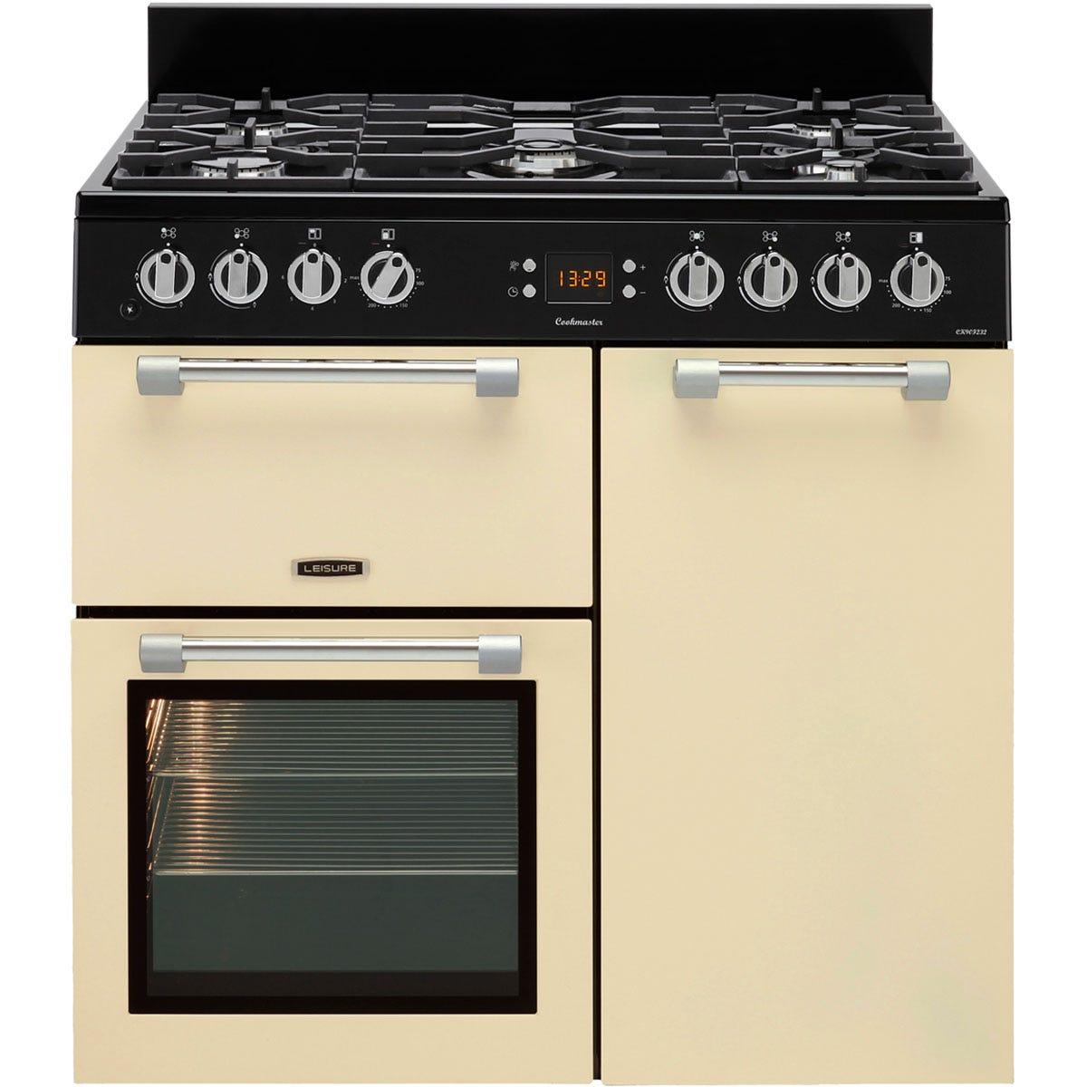 Leisure CK90F232C 90cm Cookmaster Dual Fuel Range Cooker - Cream