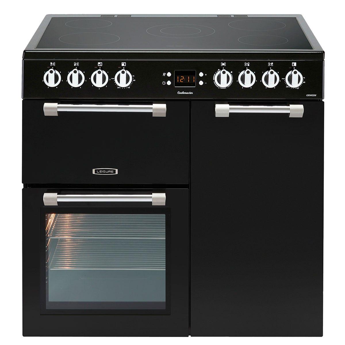 Leisure CK90C230K 90cm Cookmaster Electric Range Cooker - Black