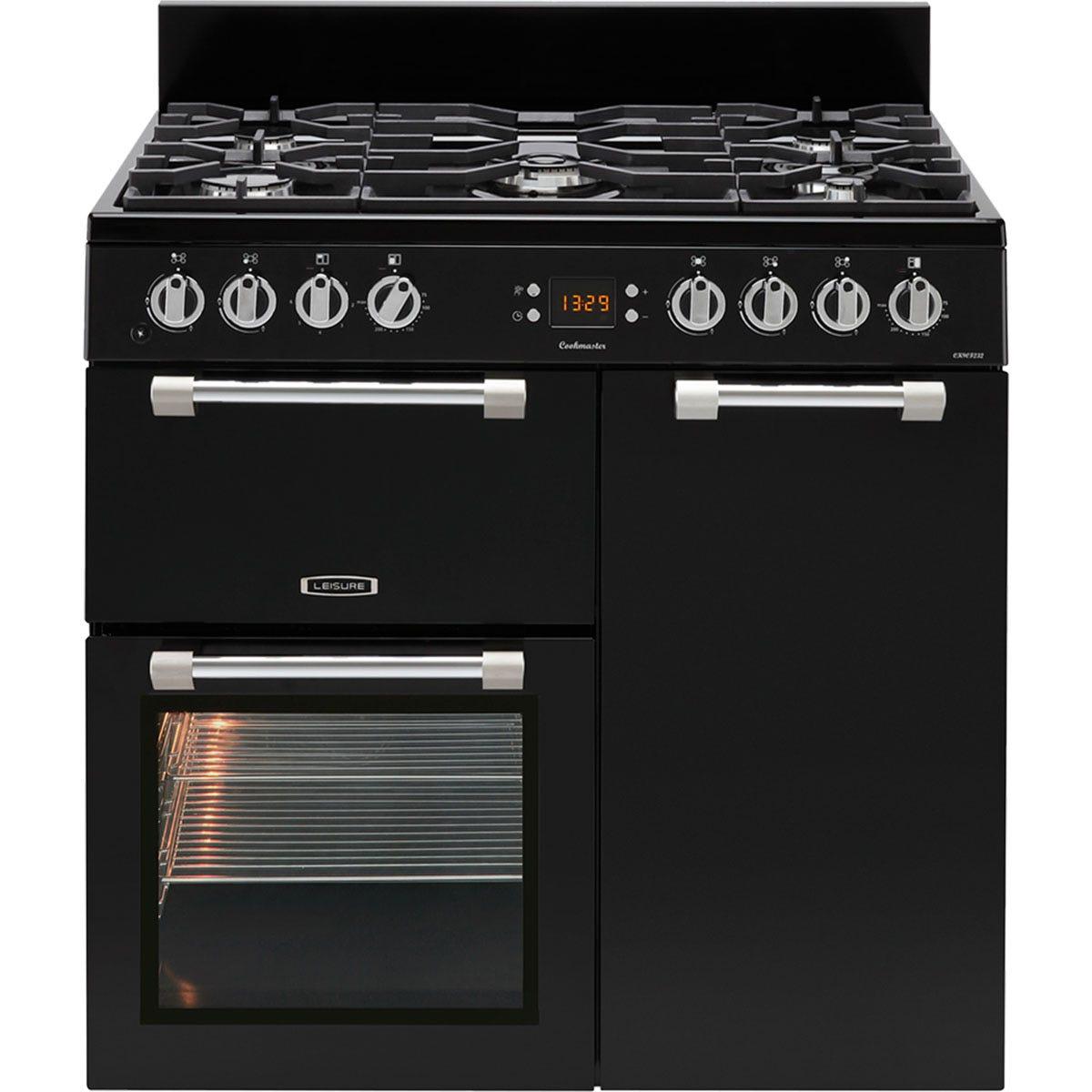 Leisure CK90F232K 90cm Cookmaster Dual Fuel Range Cooker - Black