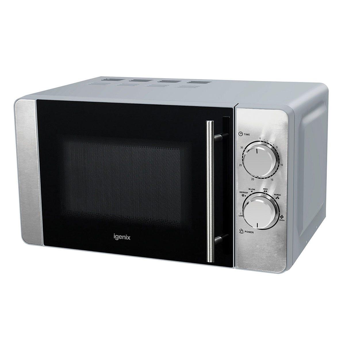 Igenix IG2084 800W Manual 20L Microwave - Silver