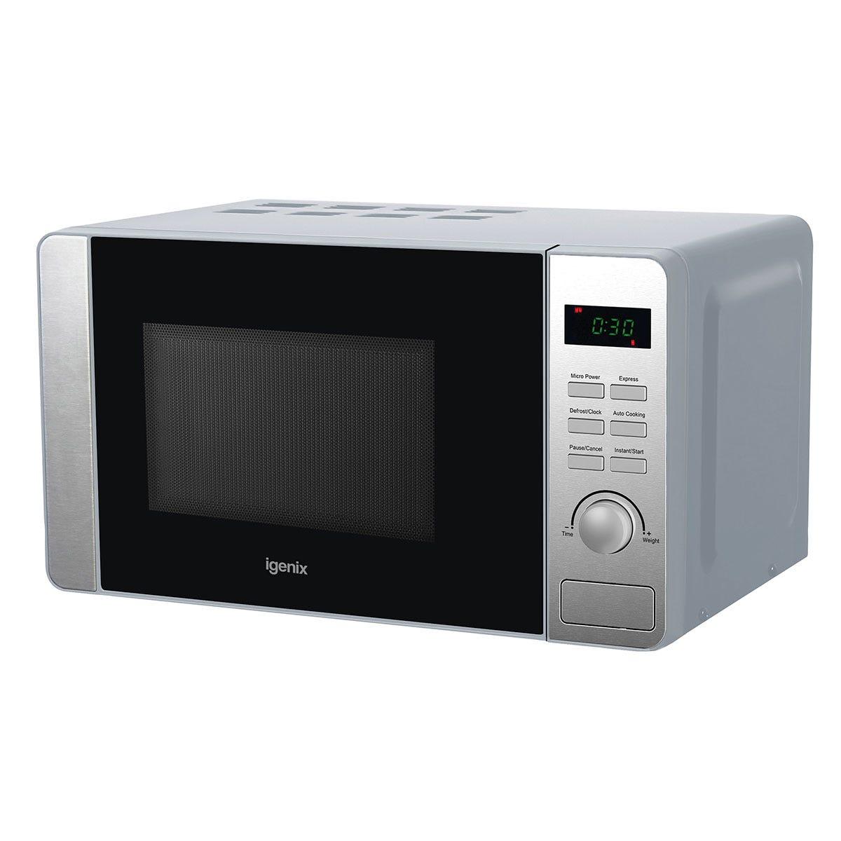 Igenix IG2086 800W Digital 20L Microwave - Stainless Steel