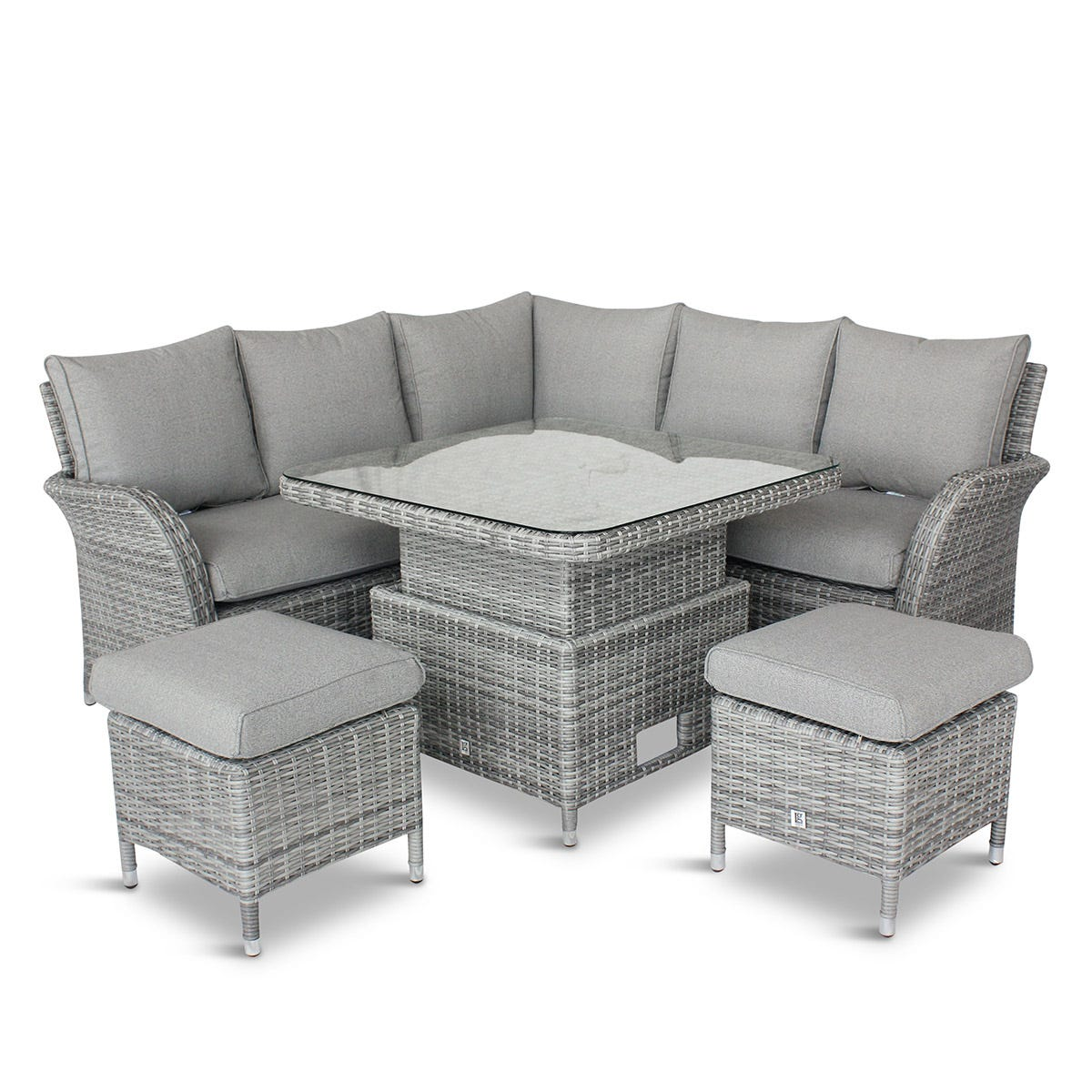 LG Outdoor Monaco Stone Compact Dining Modular with Adjustable Table