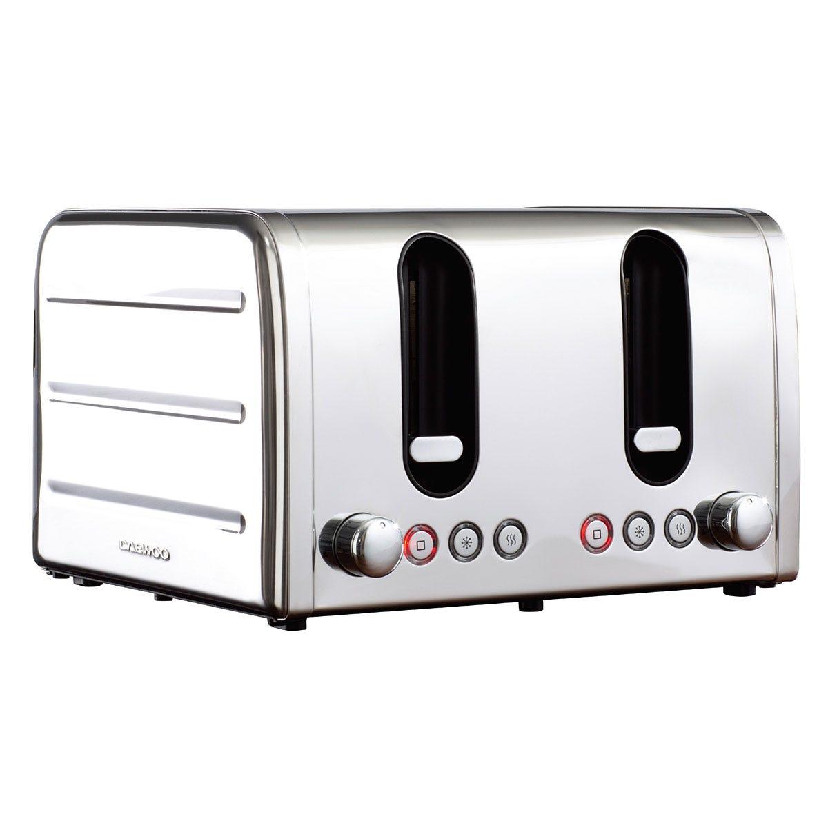 Daewoo SDA1787 Deauville 4-Slice Toaster - Stainless Steel