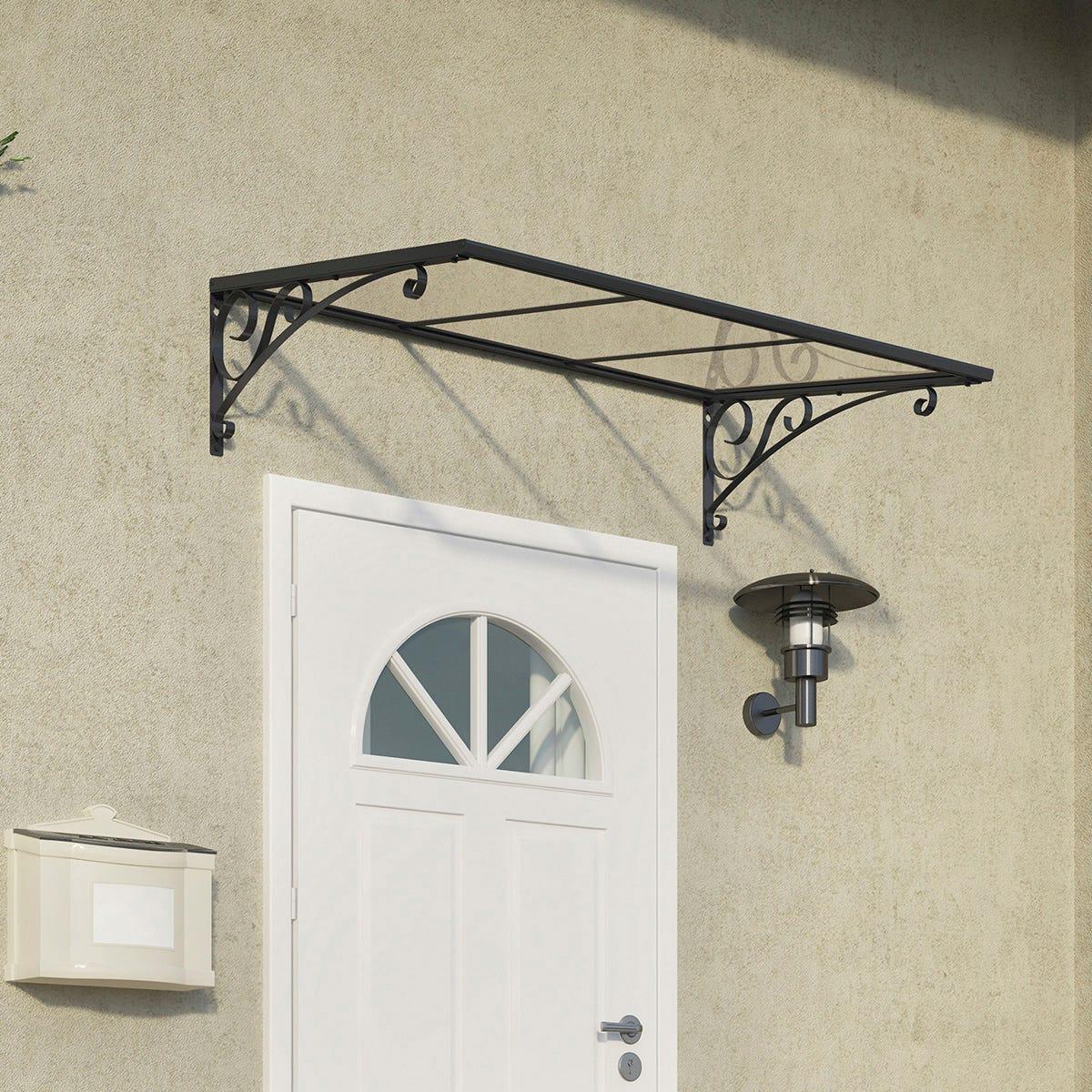 Palram - Canopia Venus Door Canopy - Grey/Clear