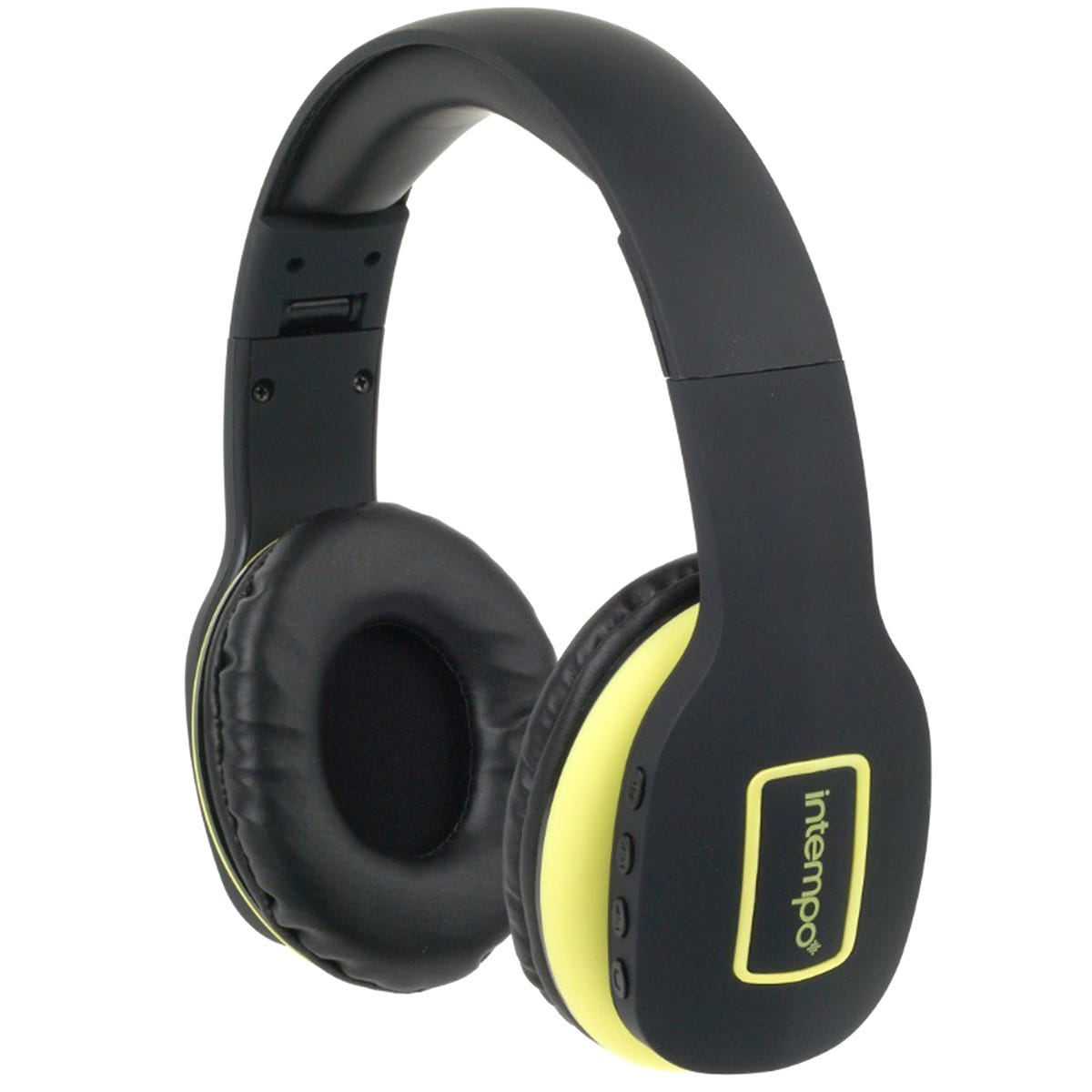 Intempo Active Wireless Bluetooth Foldable Headphones - Black/Yellow