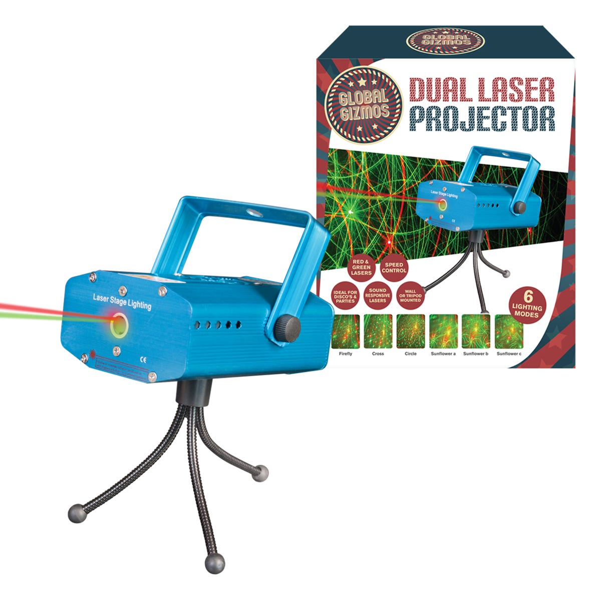 Global Gizmos Dual Laser Projector