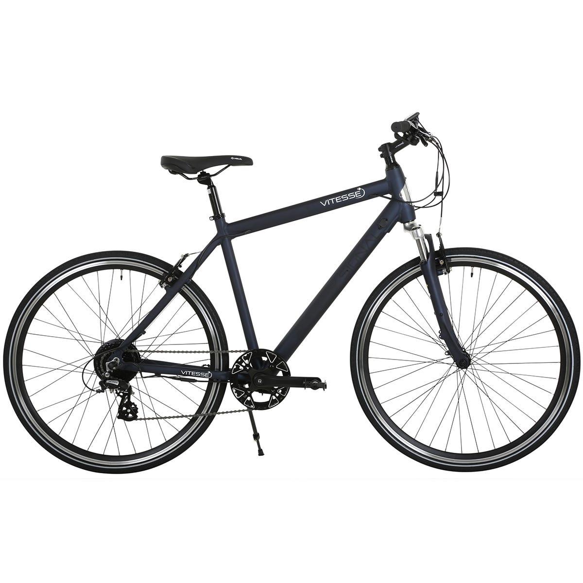 Vitesse Signal 700c Mens Hybrid Electric Bike - Black