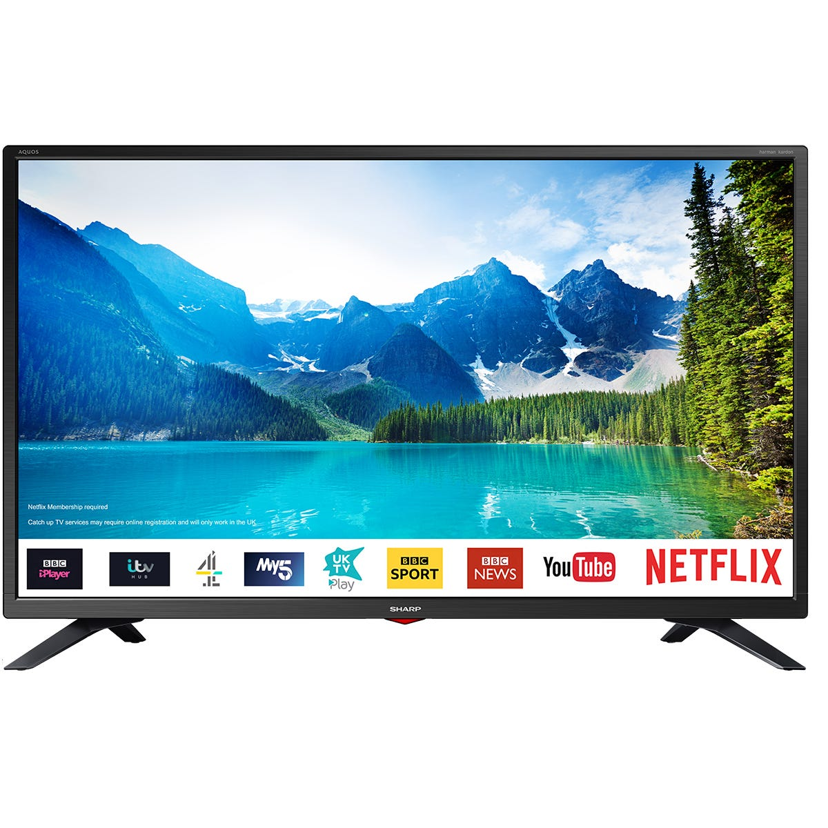 Sharp 32 inch 1T-C32BC3KH2FB HD Ready LED Smart TV with Freeview Play - Black