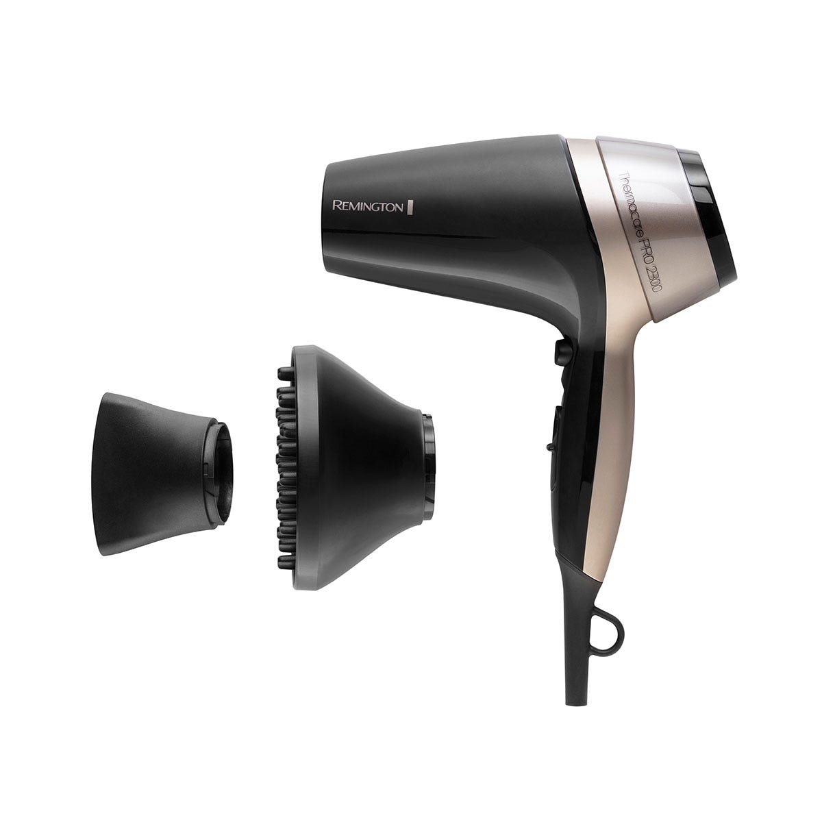 Remington D5715 Thermacare Pro 2300 Hairdryer - Black and Pink