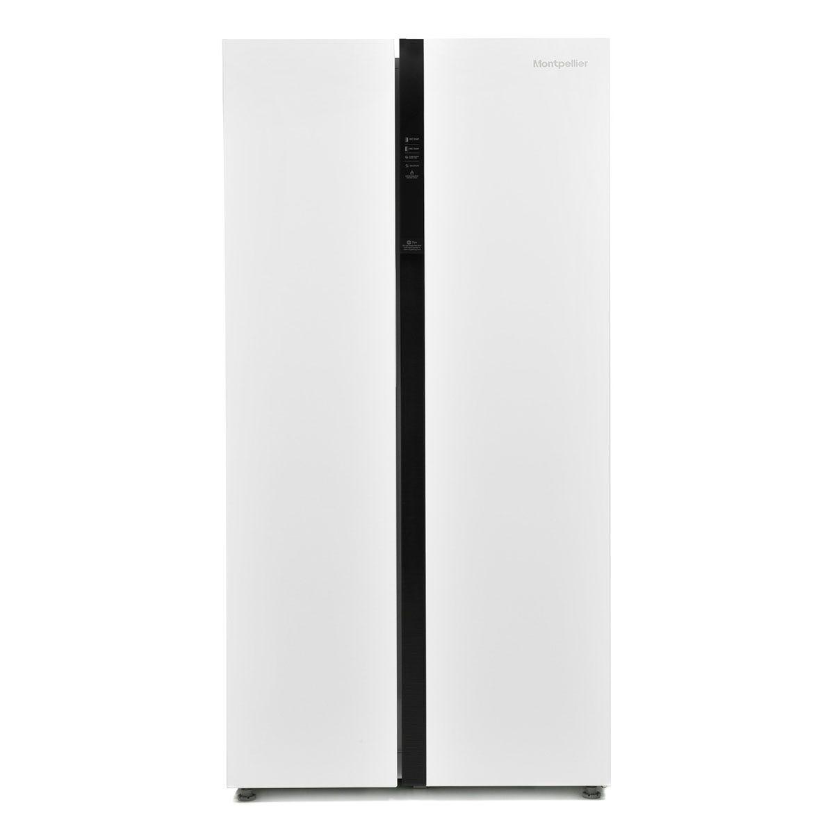 Montpellier M510BW American-Style Side-by-Side Fridge Freezer - White