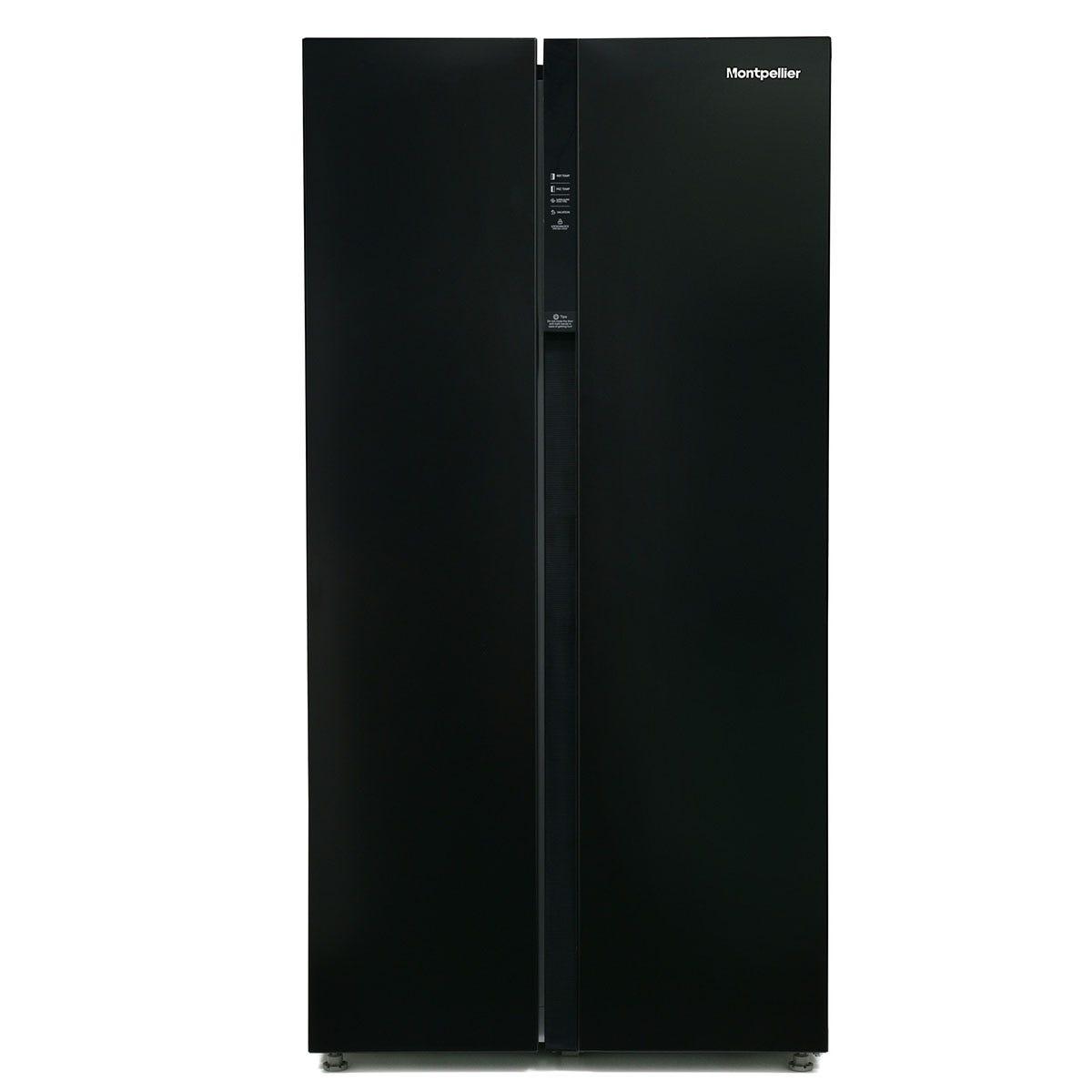 Montpellier M510BK American-Style Side-by-Side Fridge Freezer - Black