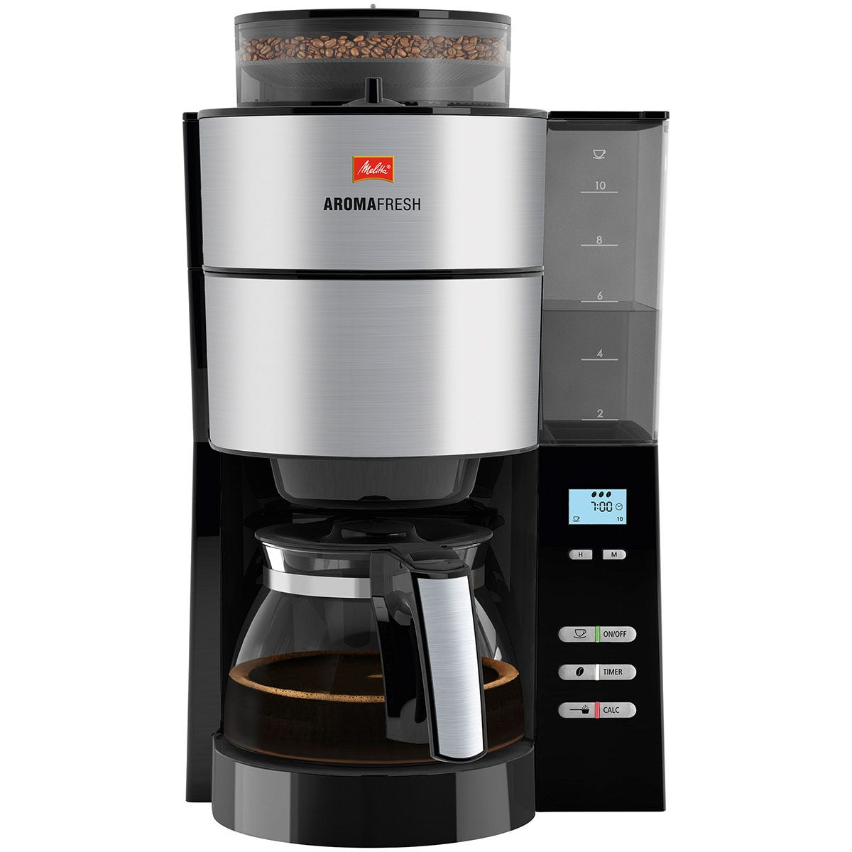 Melitta ML0642 AromaFresh 1.25L Filter Coffee Machine - Silver/Black