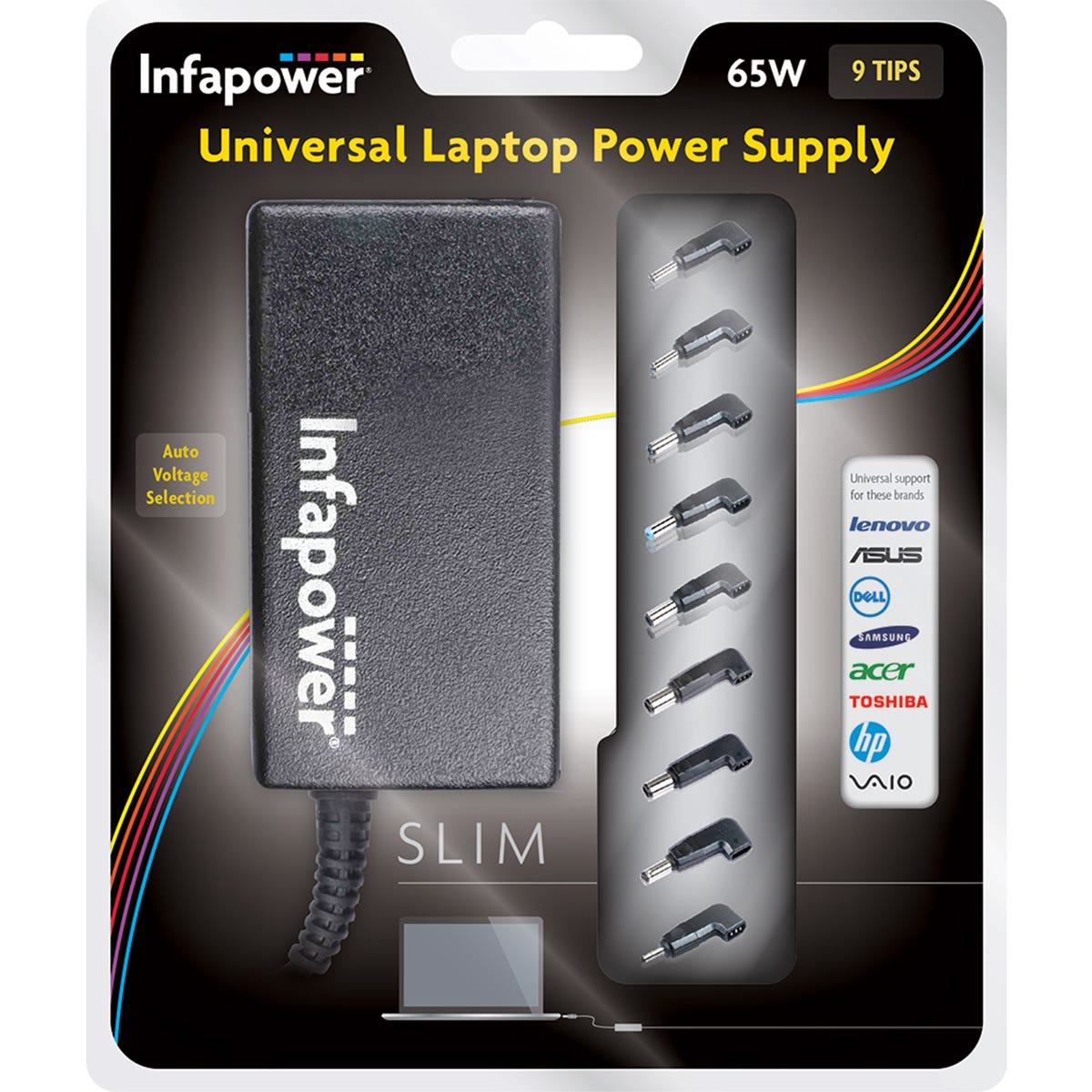 Infapower 65W Universal Laptop Automatic Power Supply