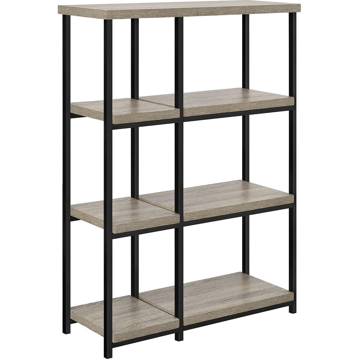 Dorel Elmwood Bookcase - Grey Oak