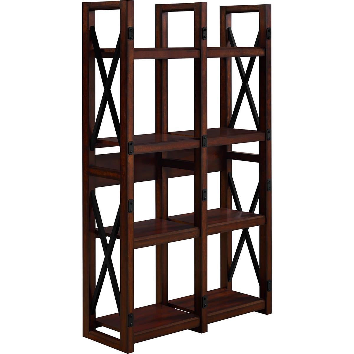 Dorel Wildwood Bookcase/Room Divider - Espresso
