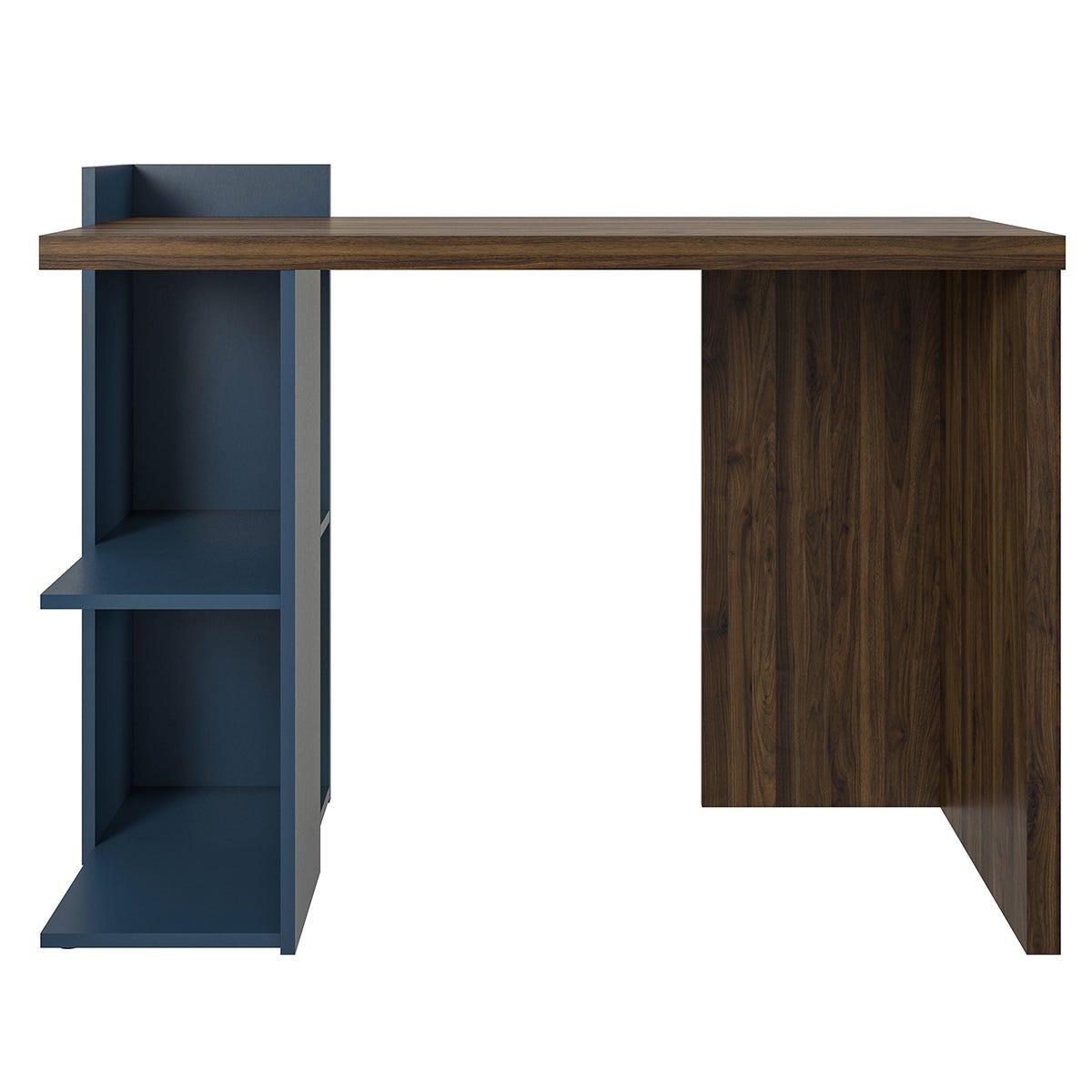Dorel Novogratz Xavier Computer Desk - Walnut/Blue