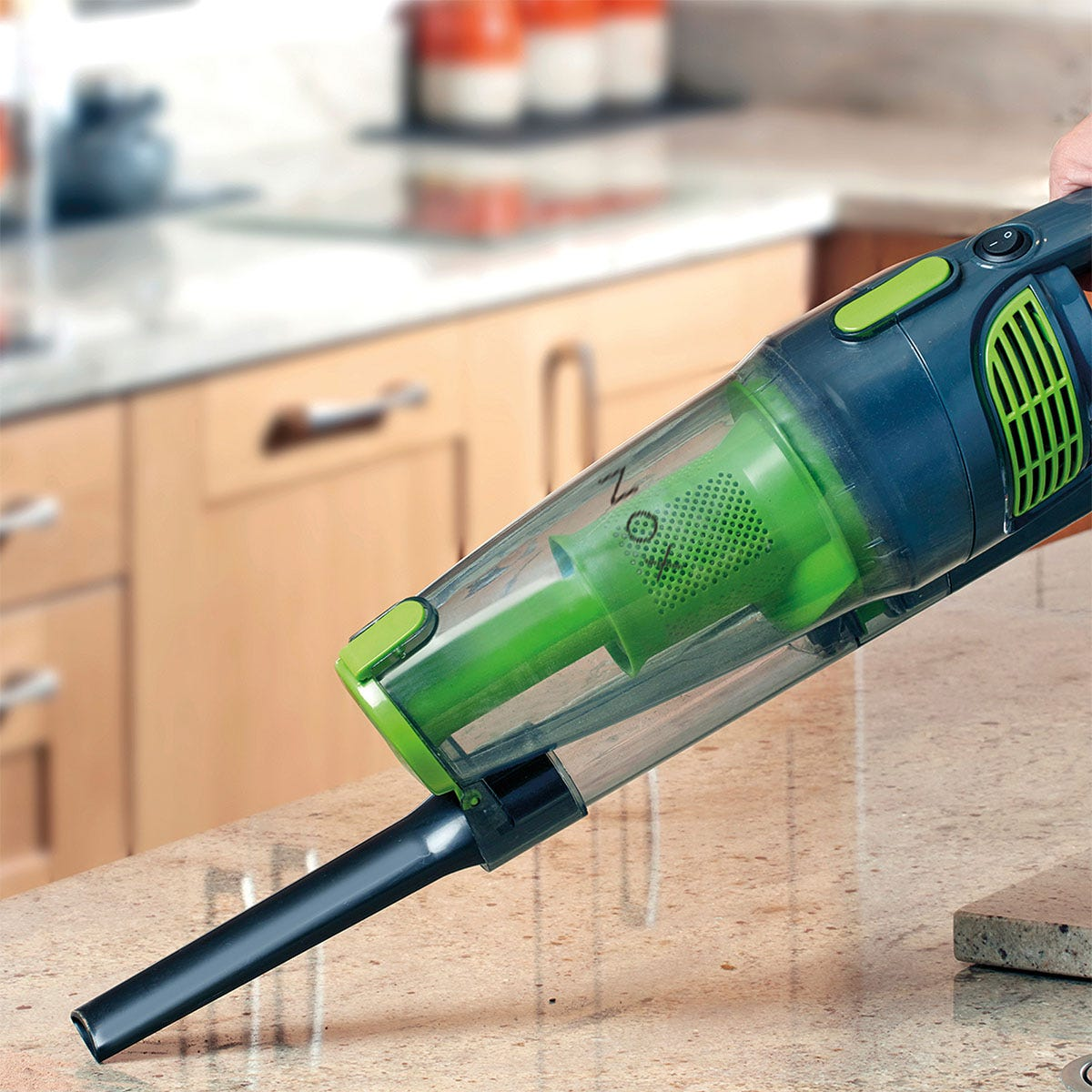 Maxi Vac Maxi G2729 Vac 800W 2-in-1 Stick Vacuum Cleaner - Grey and Green