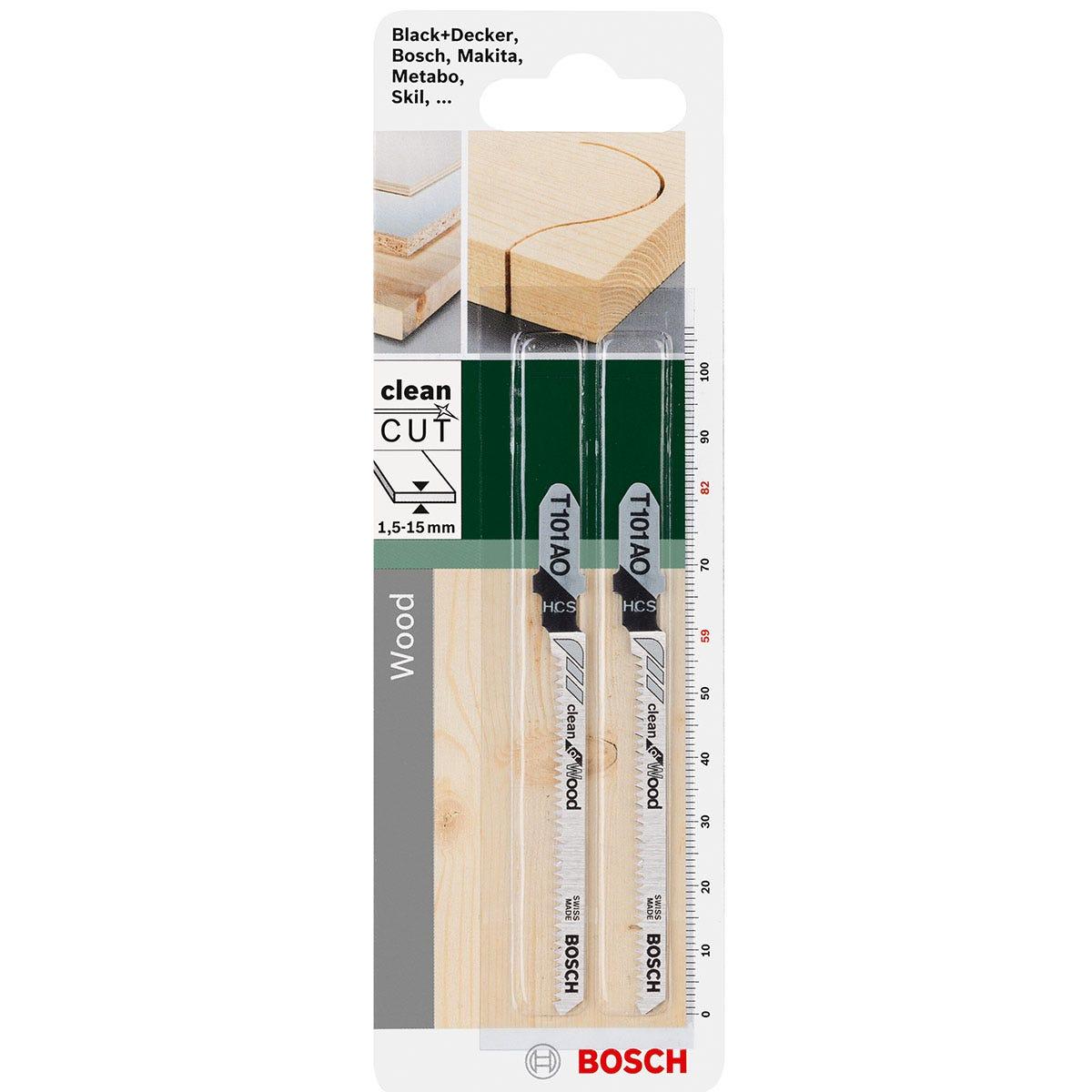 Bosch Wood Curve Cut Jigsaw Blade Set T101AO