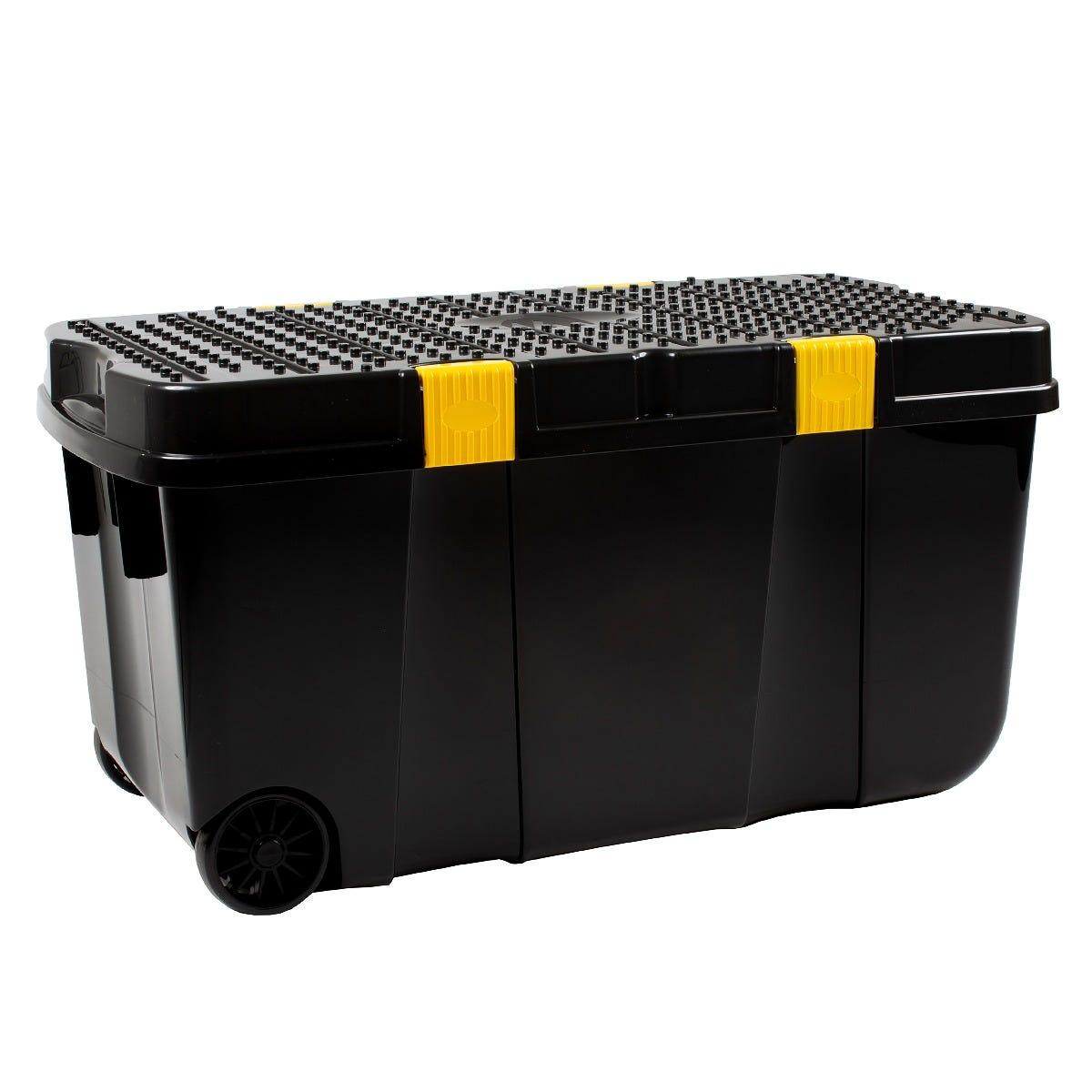 Wham DIY Tough Cart Storage Box 100L - Black and Yellow