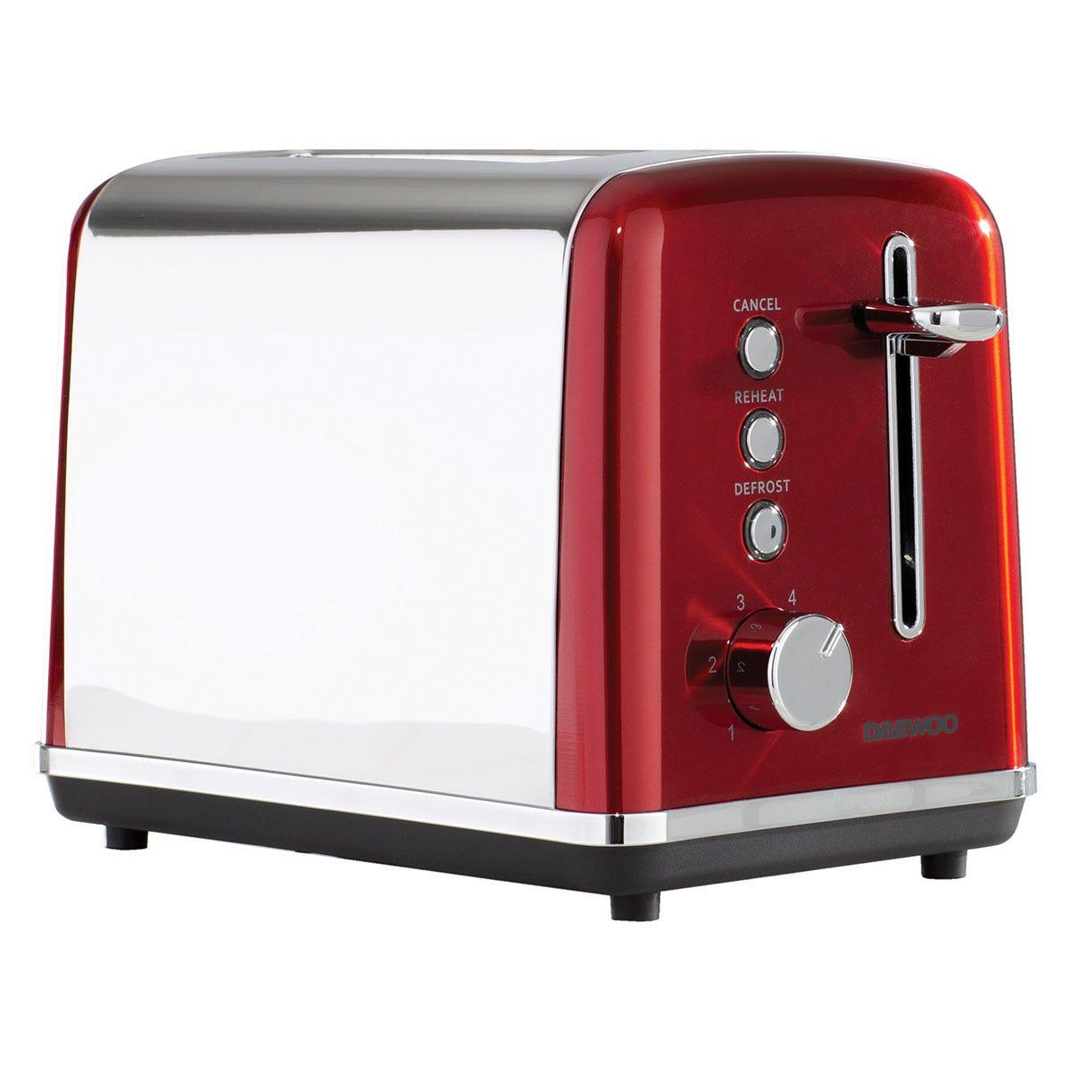 Daewoo SDA1584 Kensington 810W 2-Slice Toaster - Red