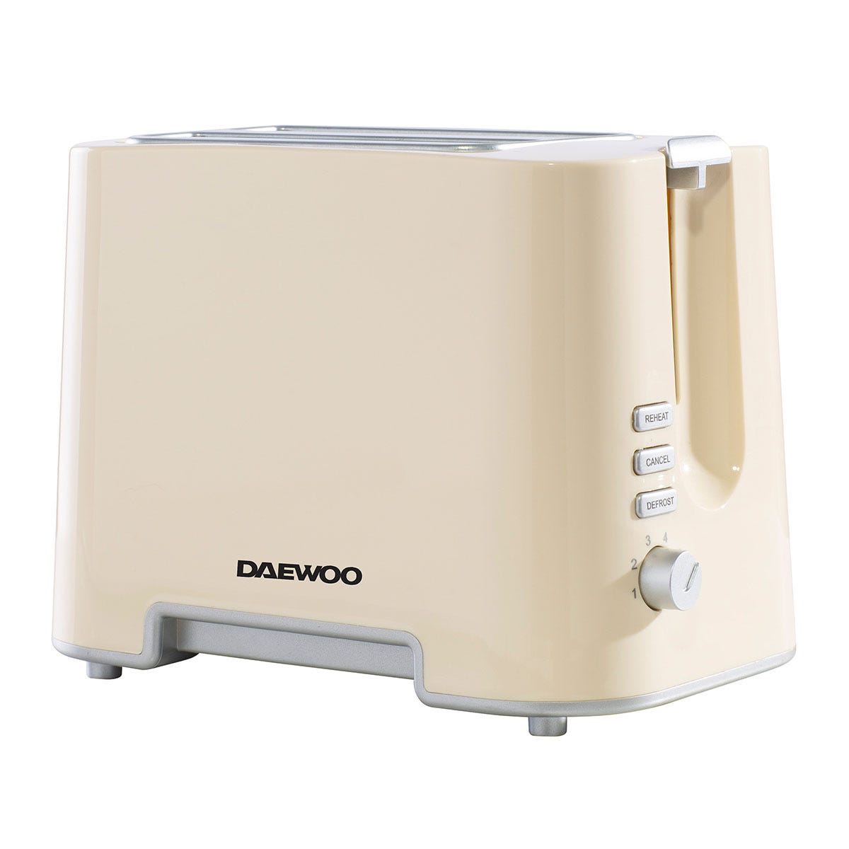Daewoo SDA1688 870W 2-Slice Plastic Toaster - Cream with Chrome Band