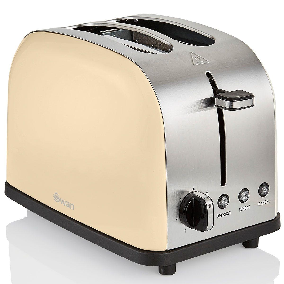 Swan ST14092CREN Camden 2-Slice Toaster - Cream