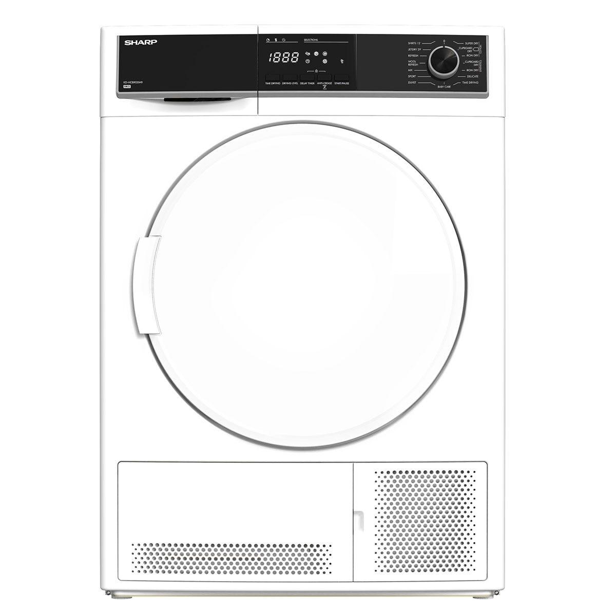 Sharp KD-HCB9GSW9-EN 9kg Condenser Dryer - White
