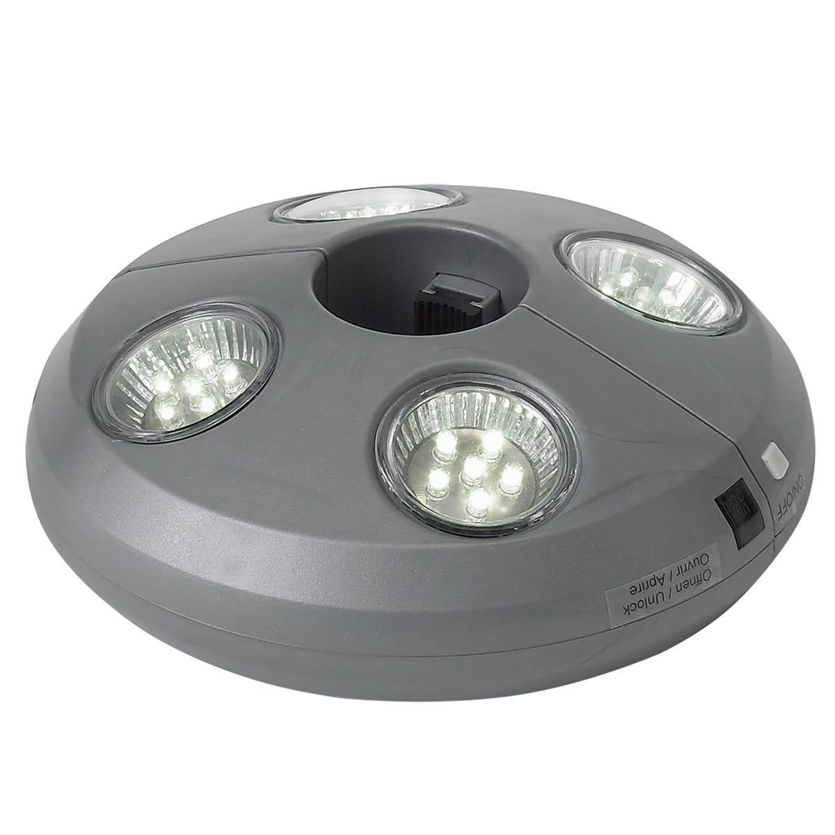 Glatz Osyrion 4 Lamp Rechargeable LED Parasol Light