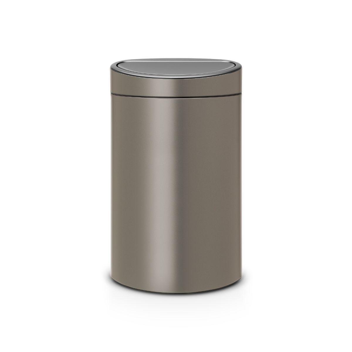 Brabantia 23L + 10L New Recycle Touch Bin - Platinum