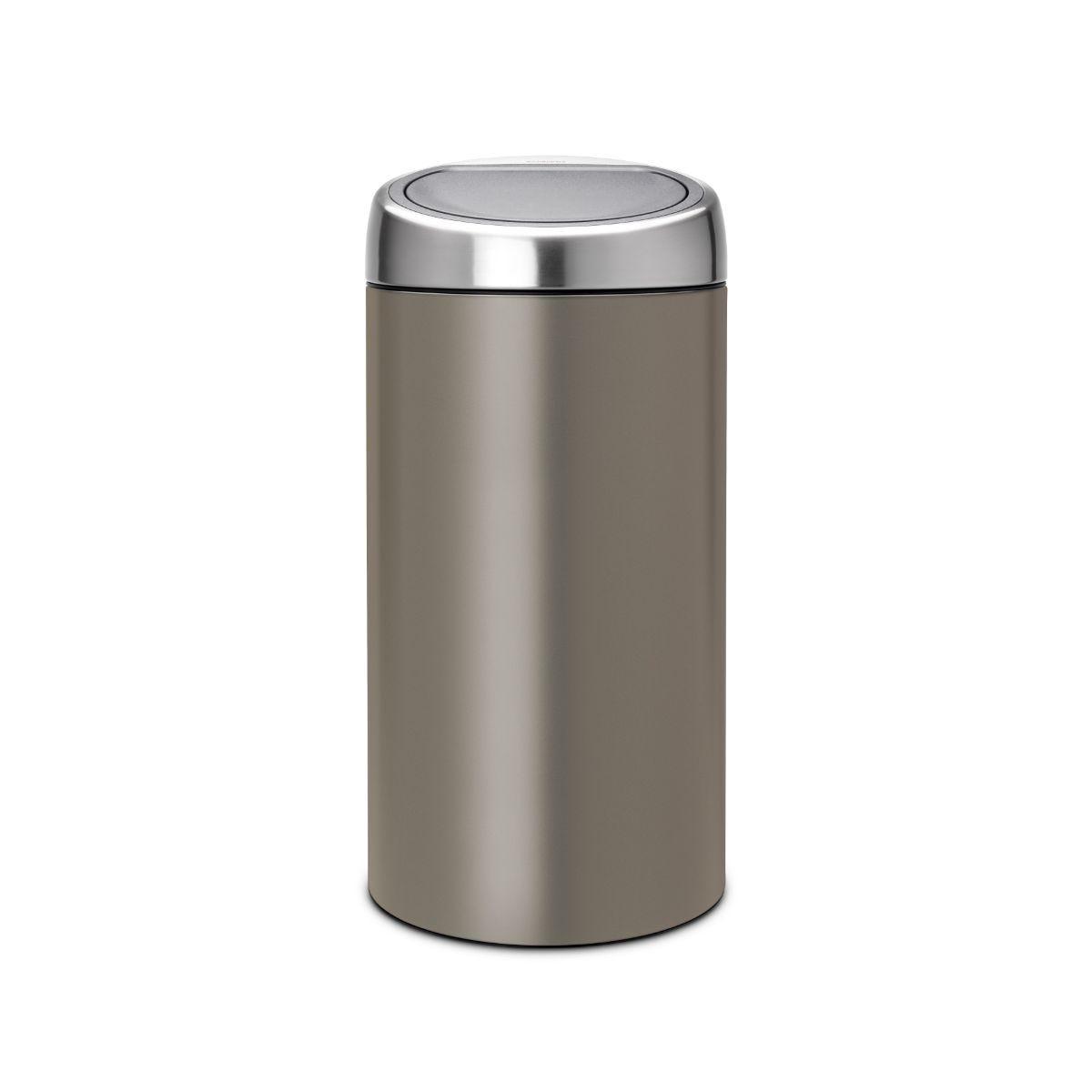 Brabantia 2 x 20L New Recycle Touch Bin - Platinum