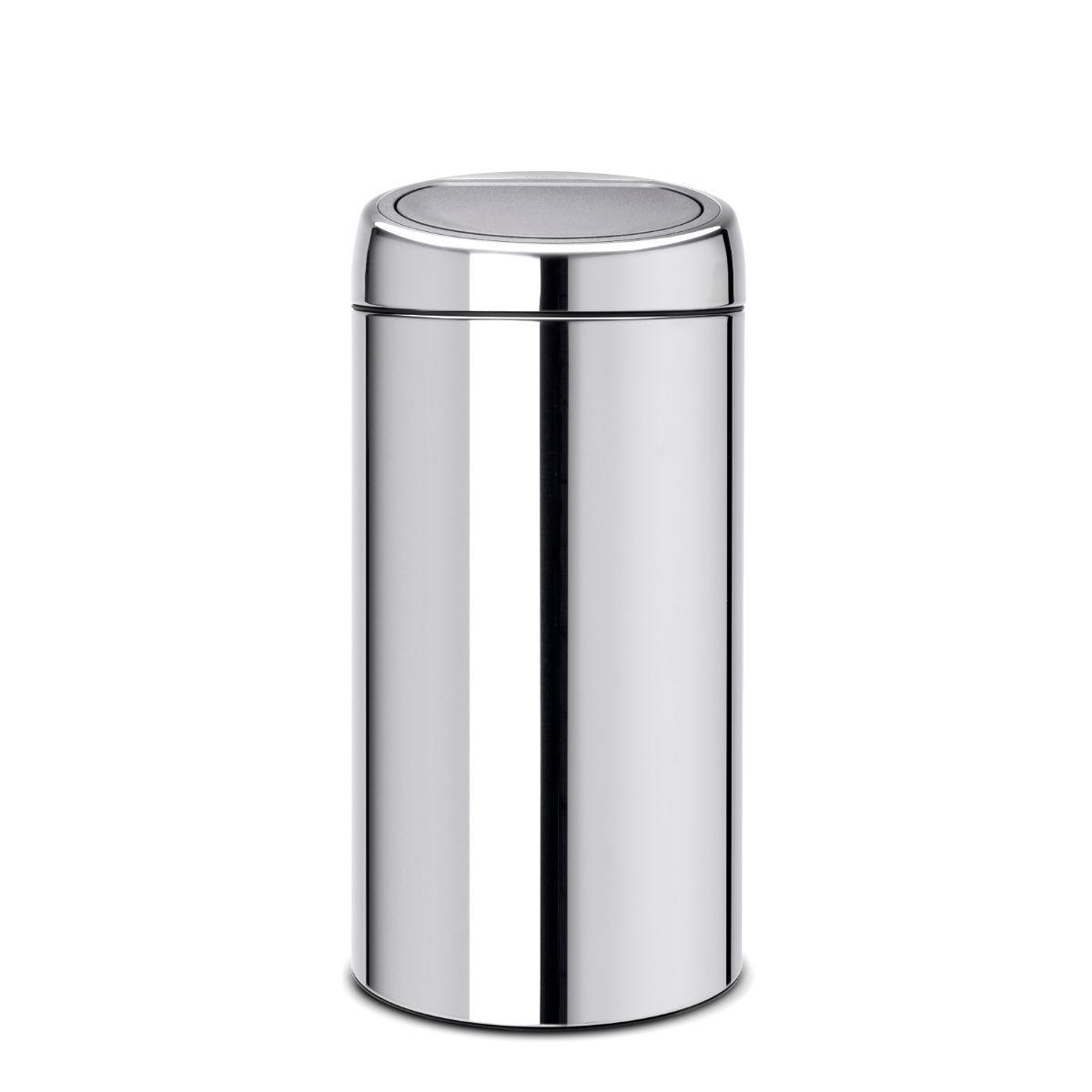 Brabantia 2 x 20L New Recycle Touch Bin - Brilliant Steel