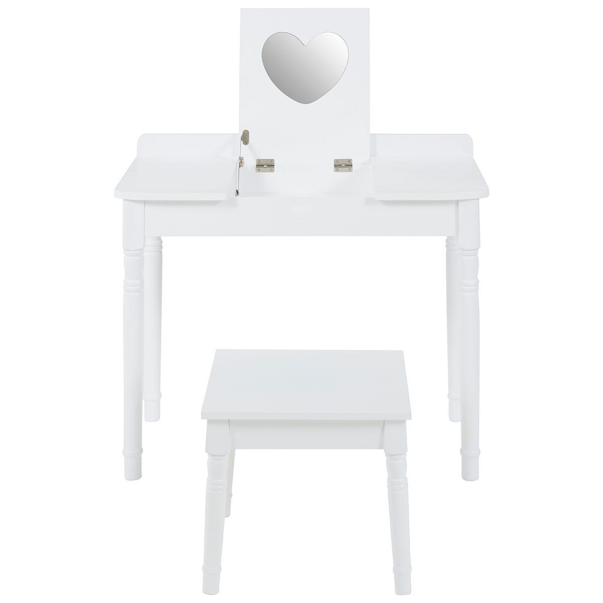 Premier Housewares Children's Dressing Table & Chair - White