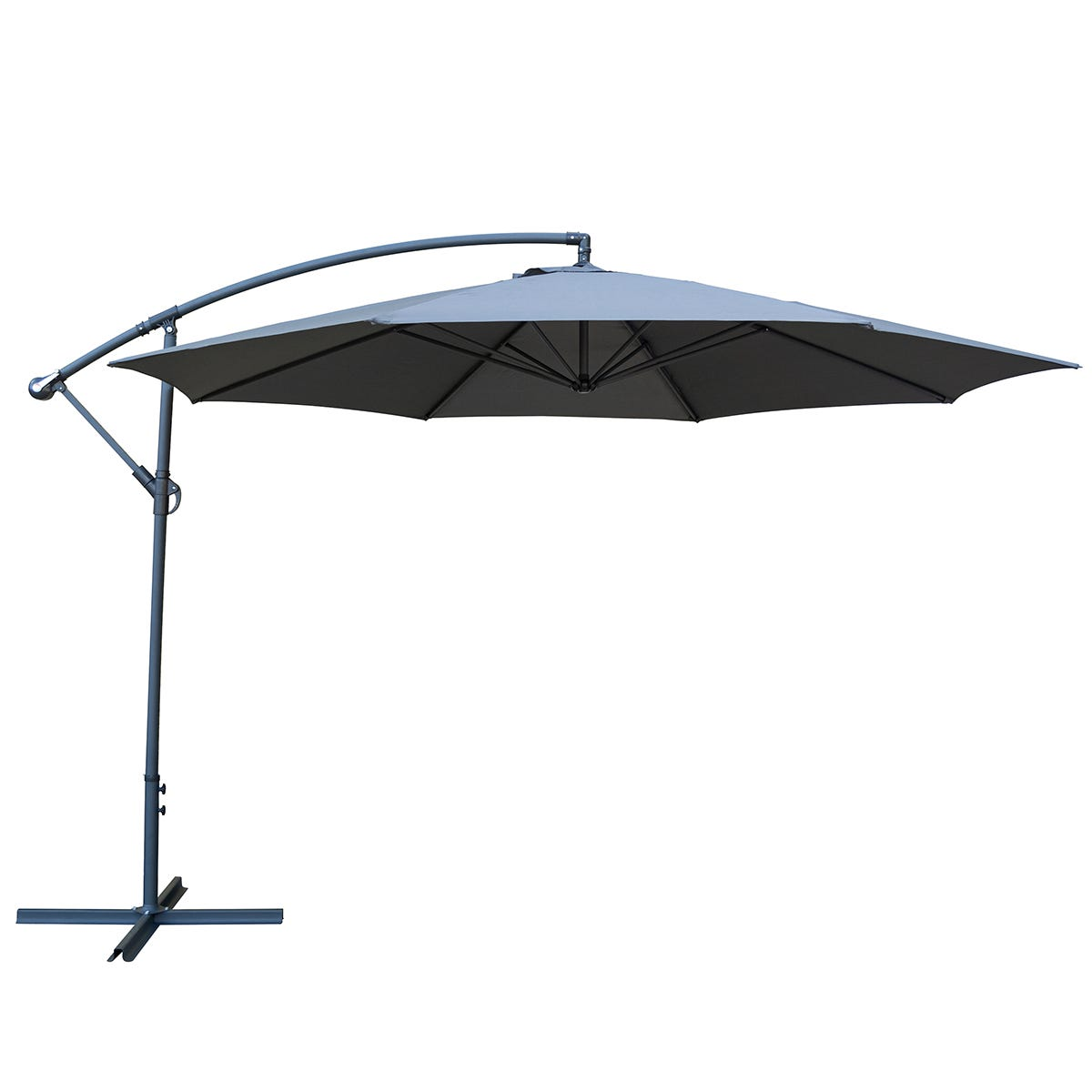 Rowlinson Metal 3.5m Overhang Parasol (base not included) - Grey