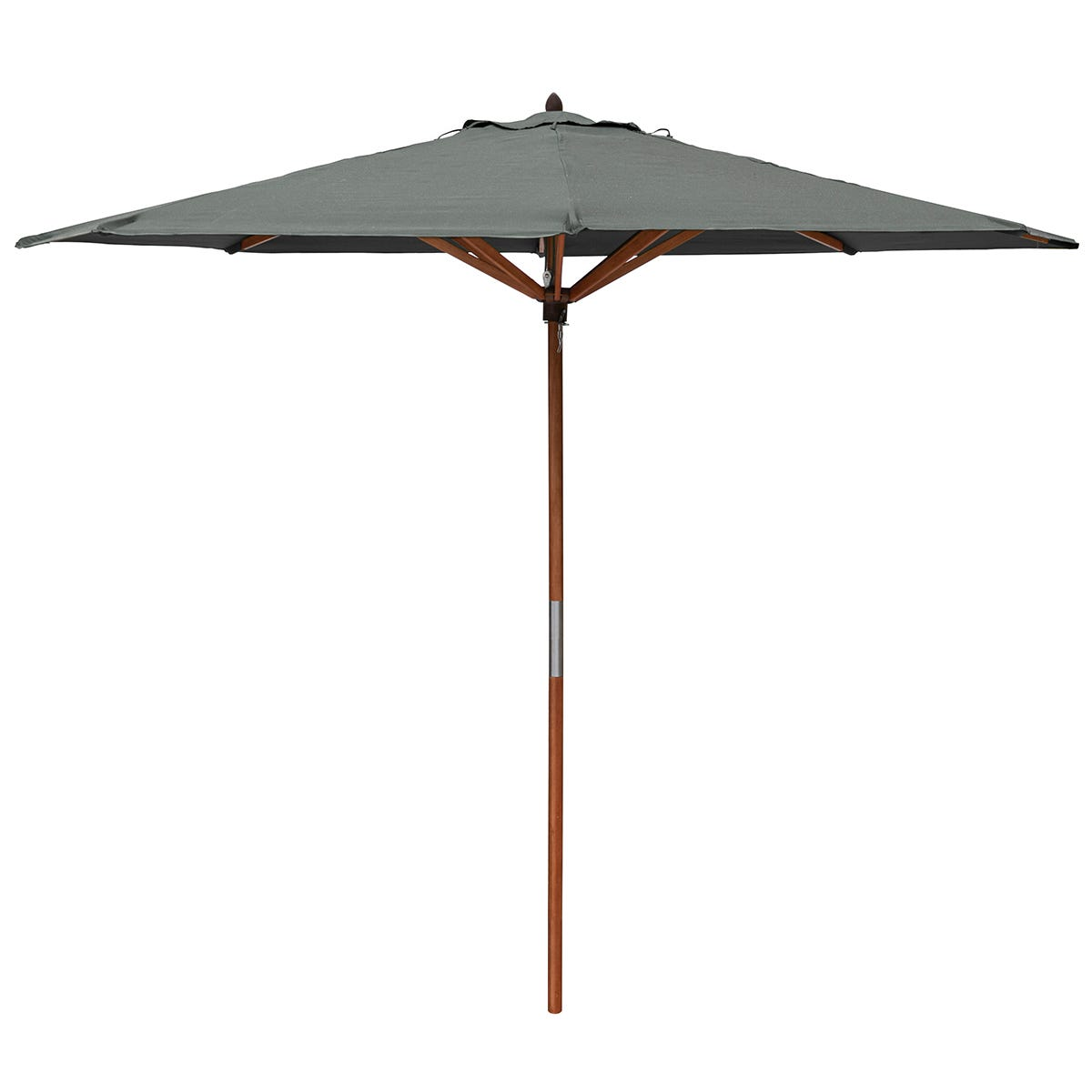 Rowlinson Willington 2.7m Wooden Parasol (base not included) - Grey